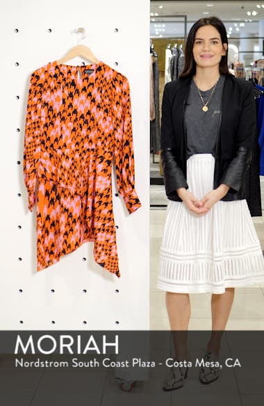 Houndstooth Asymmetrical Sheath Dress, sales video thumbnail
