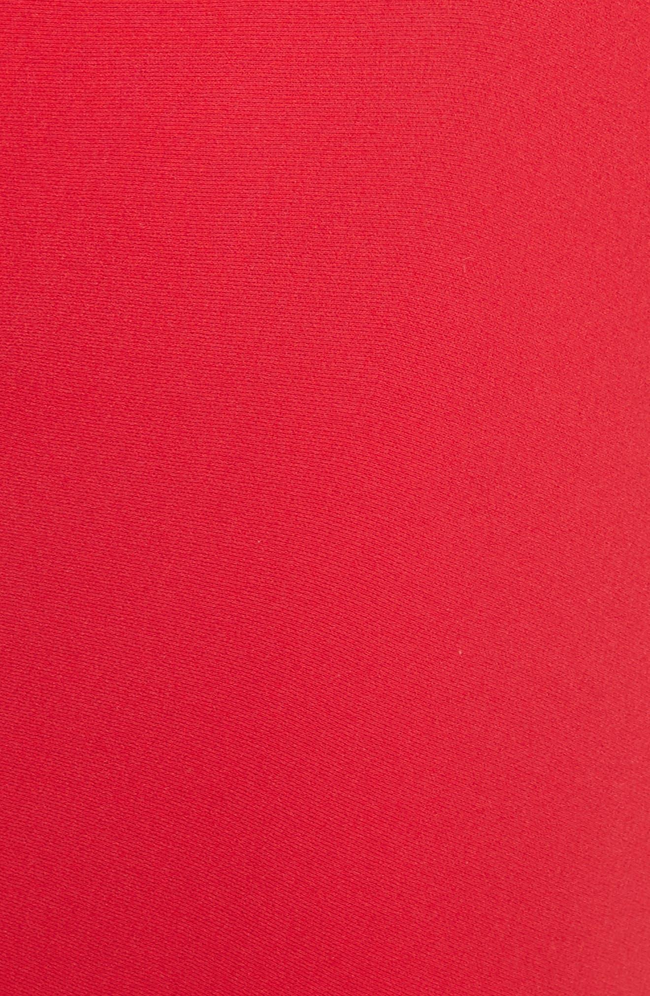 Ribbed Bodice Midi Dress,                             Alternate thumbnail 5, color,
