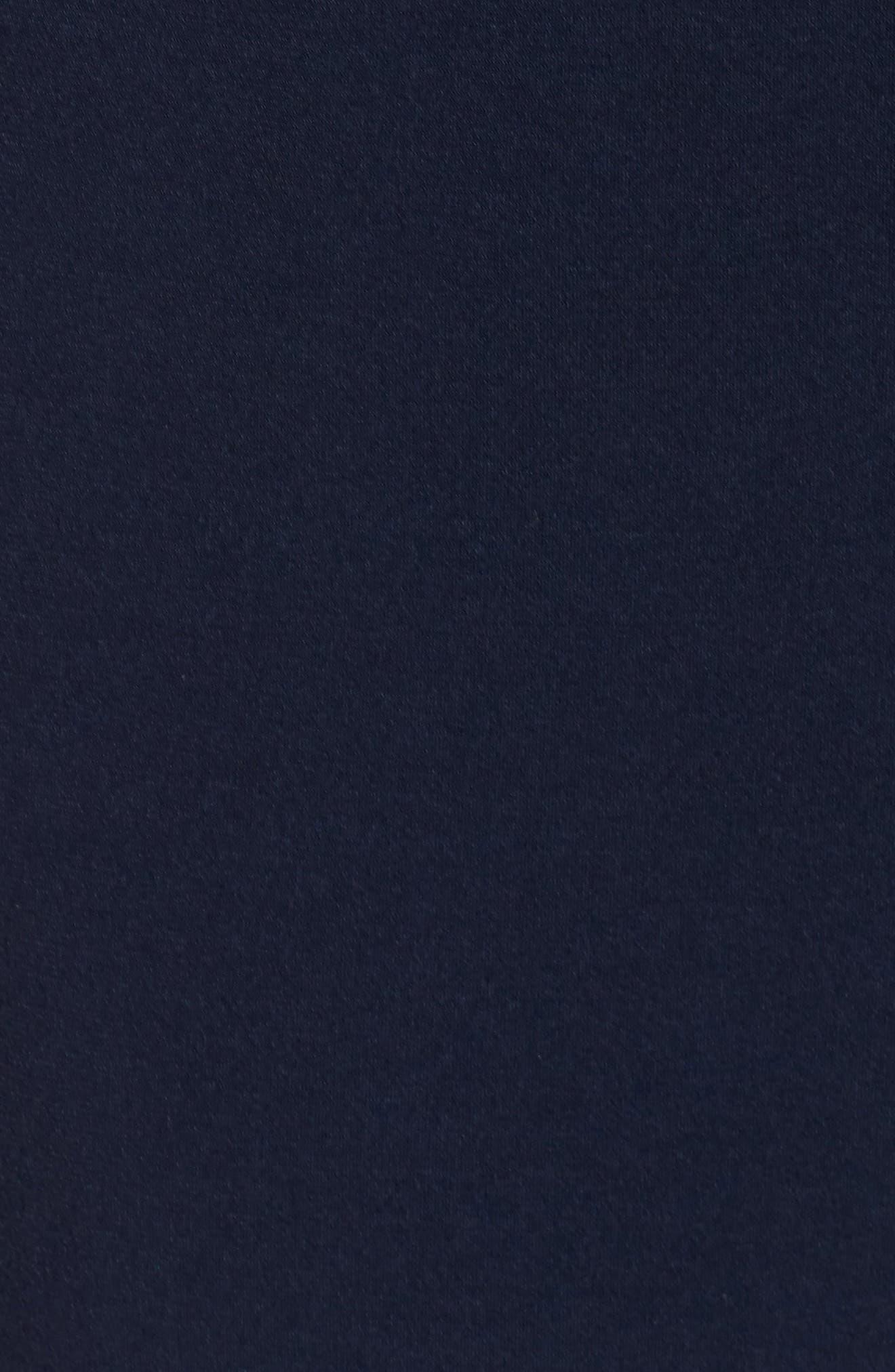 Crepe Split Sleeve Jumpsuit,                             Alternate thumbnail 5, color,