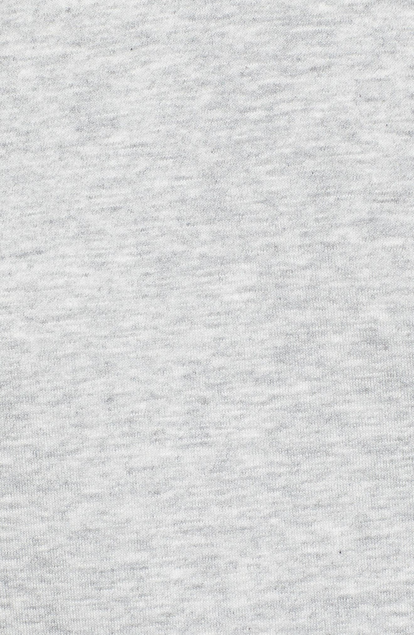Classic Sweatshirt Dress,                             Alternate thumbnail 6, color,                             LT GREY HEATHER