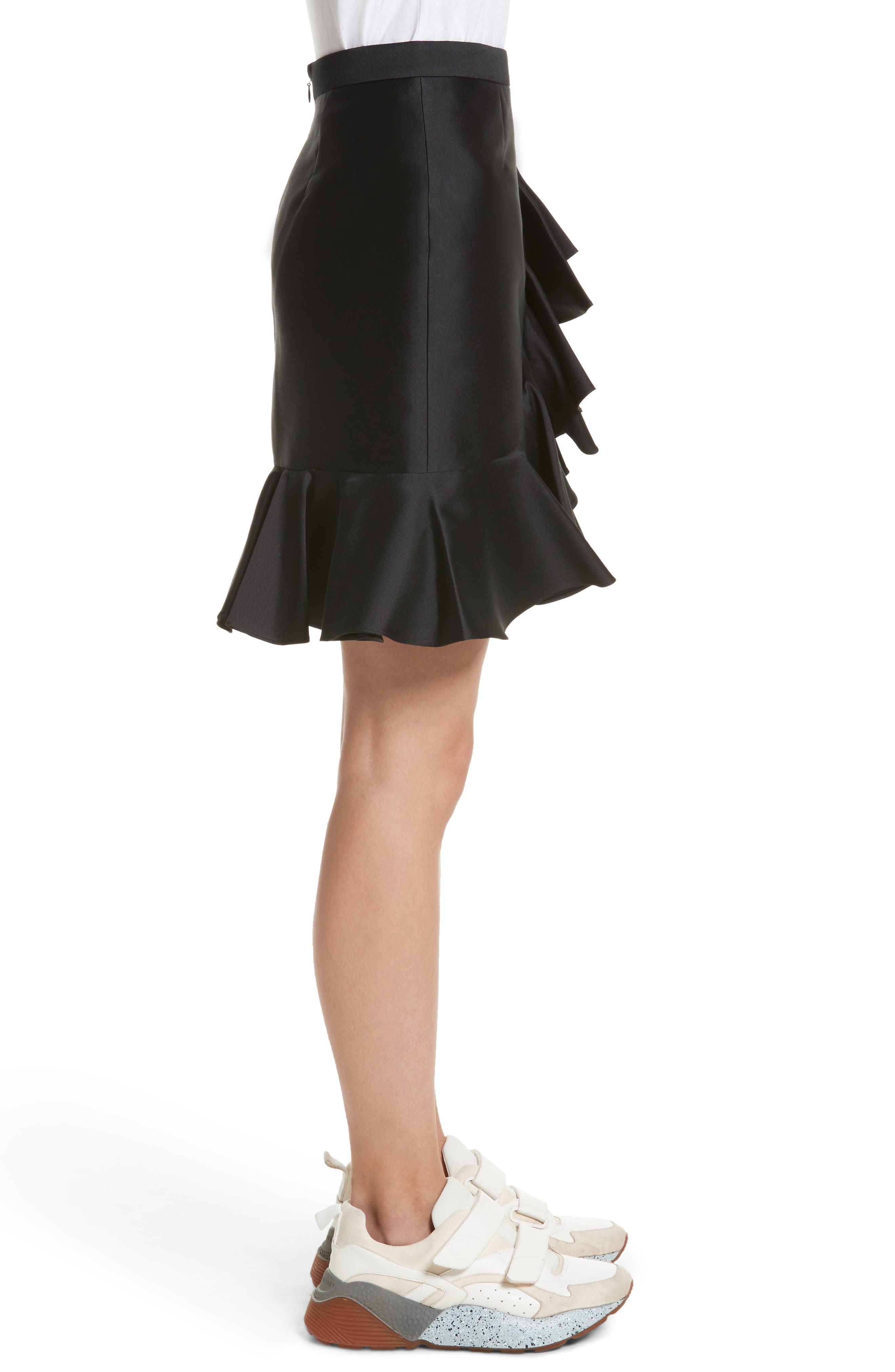 Ruffle Mini Skirt,                             Alternate thumbnail 3, color,