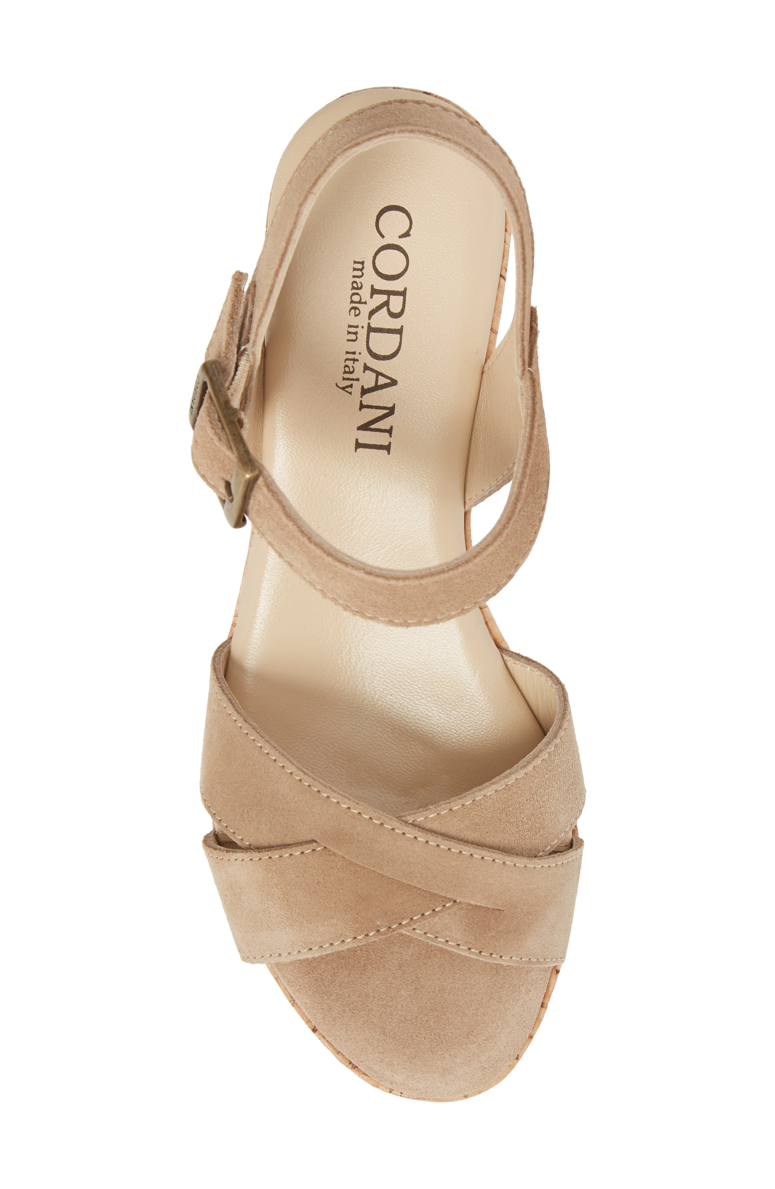 Candy Wedge Sandal,                             Alternate thumbnail 5, color,                             CORDA SUEDE