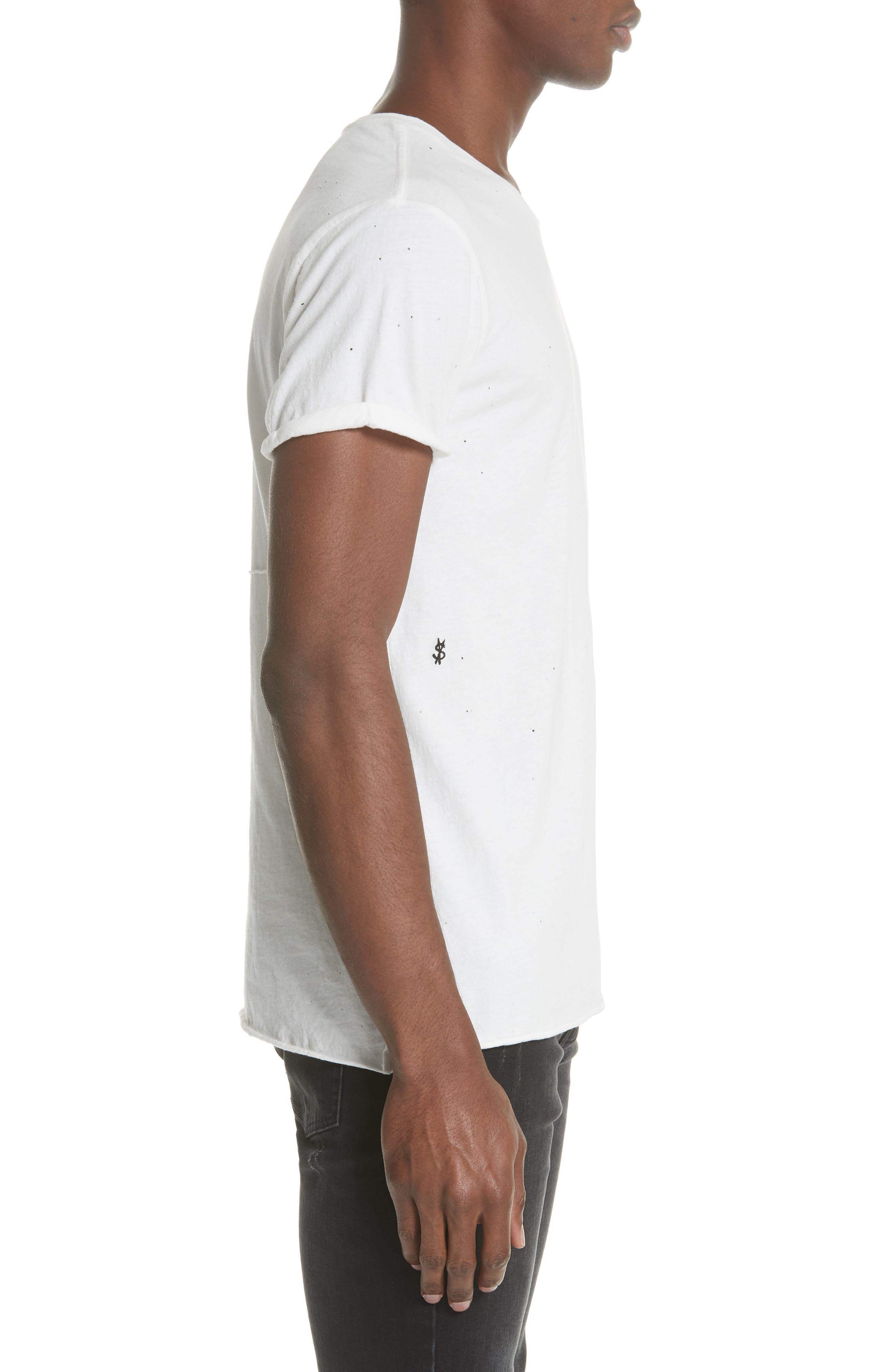 Kodeine Crewneck T-Shirt,                             Alternate thumbnail 3, color,                             WHITE