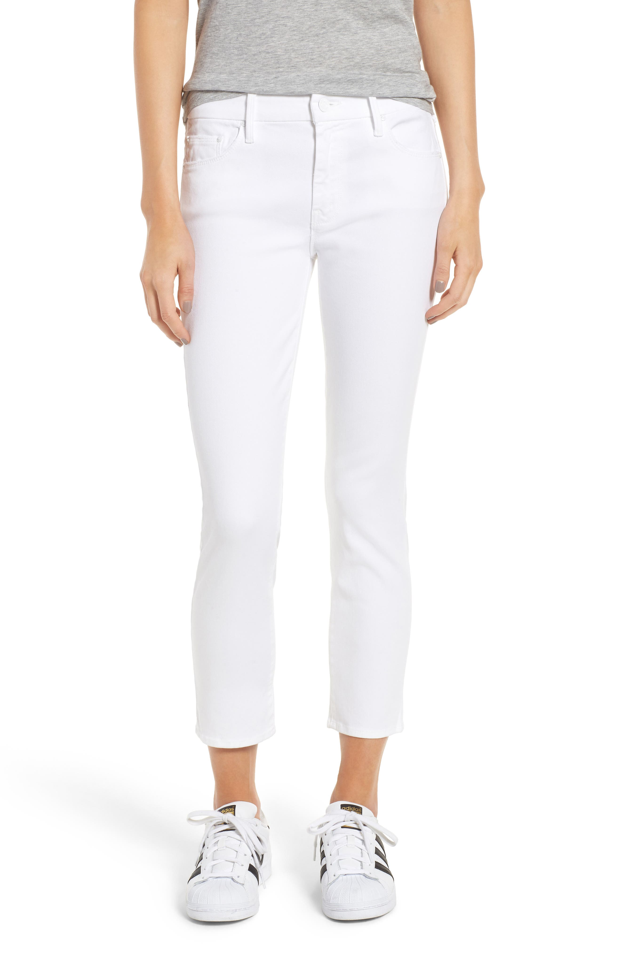 The Looker Crop Jeans,                             Main thumbnail 1, color,                             GLASS SLIPPER