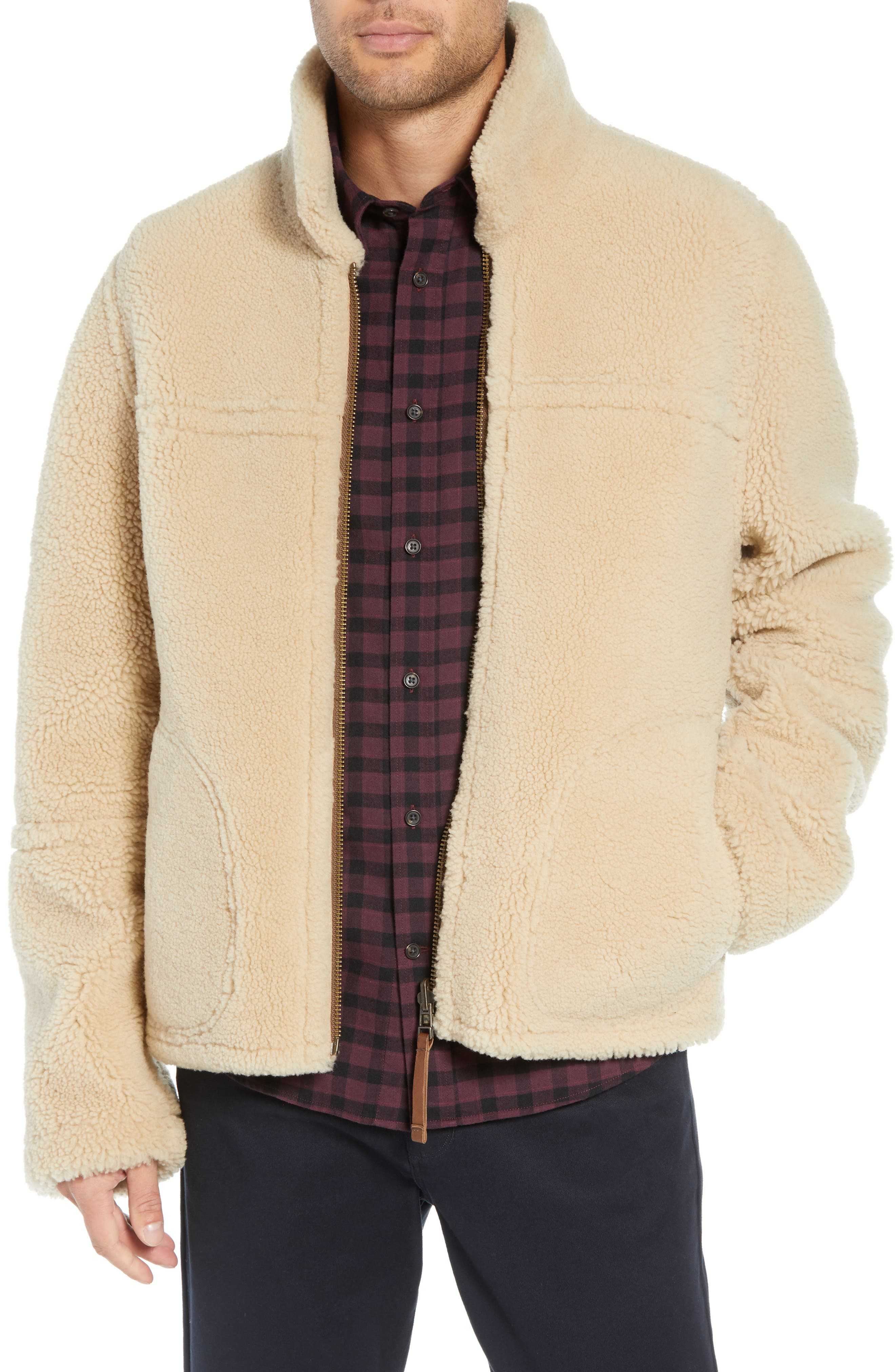 Reversible Genuine Shearling Jacket,                             Alternate thumbnail 2, color,                             117