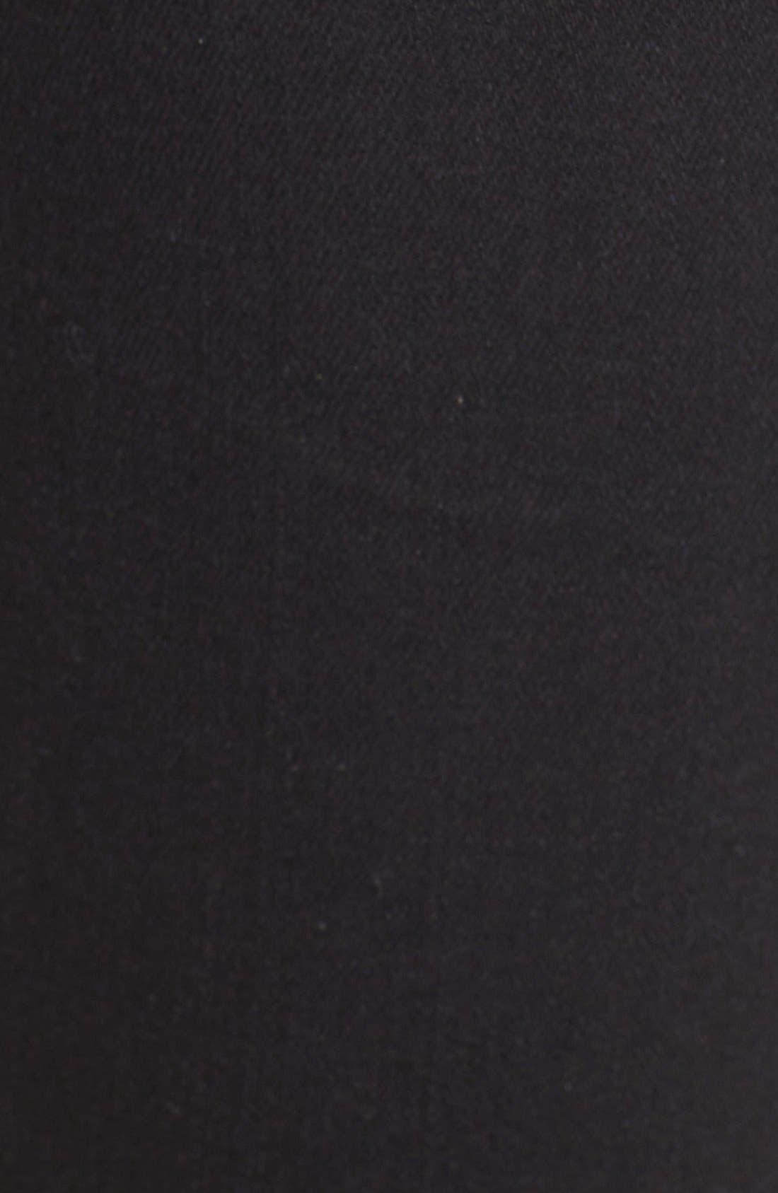 Colette High Waist Raw Hem Crop Flare Jeans,                             Alternate thumbnail 6, color,                             001