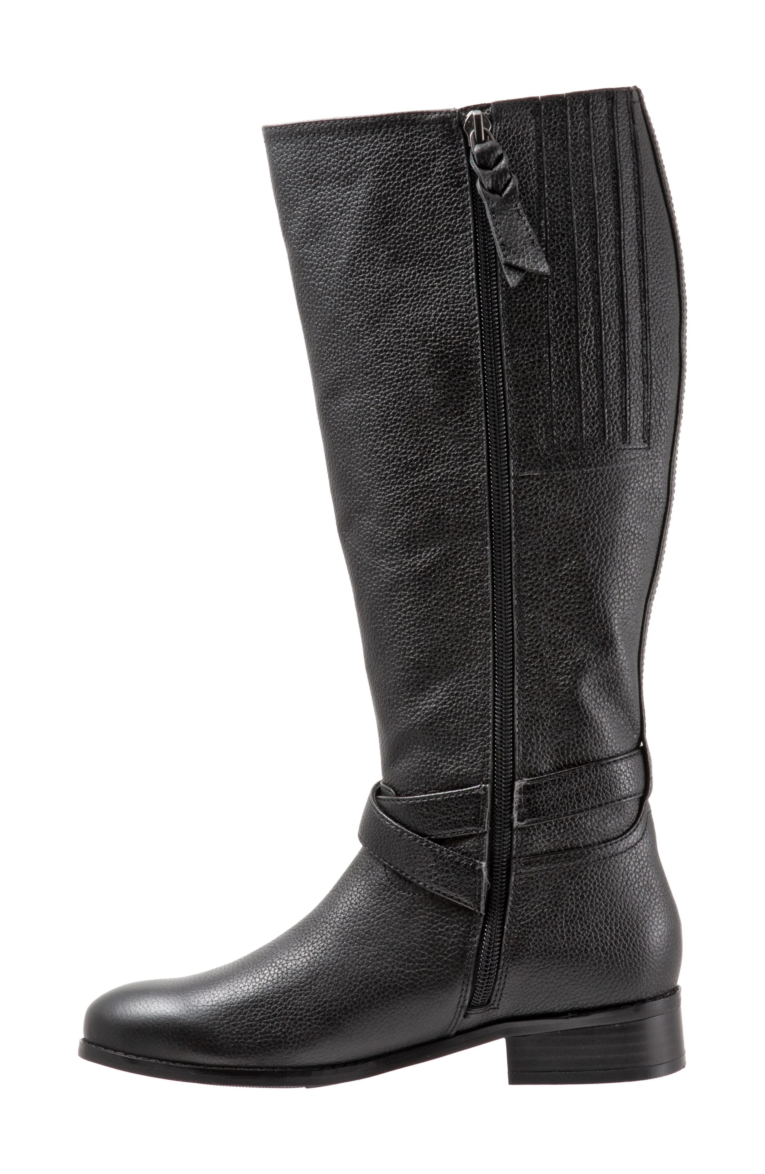 Liberty Tall Boot,                             Alternate thumbnail 3, color,                             BLACK LEATHER