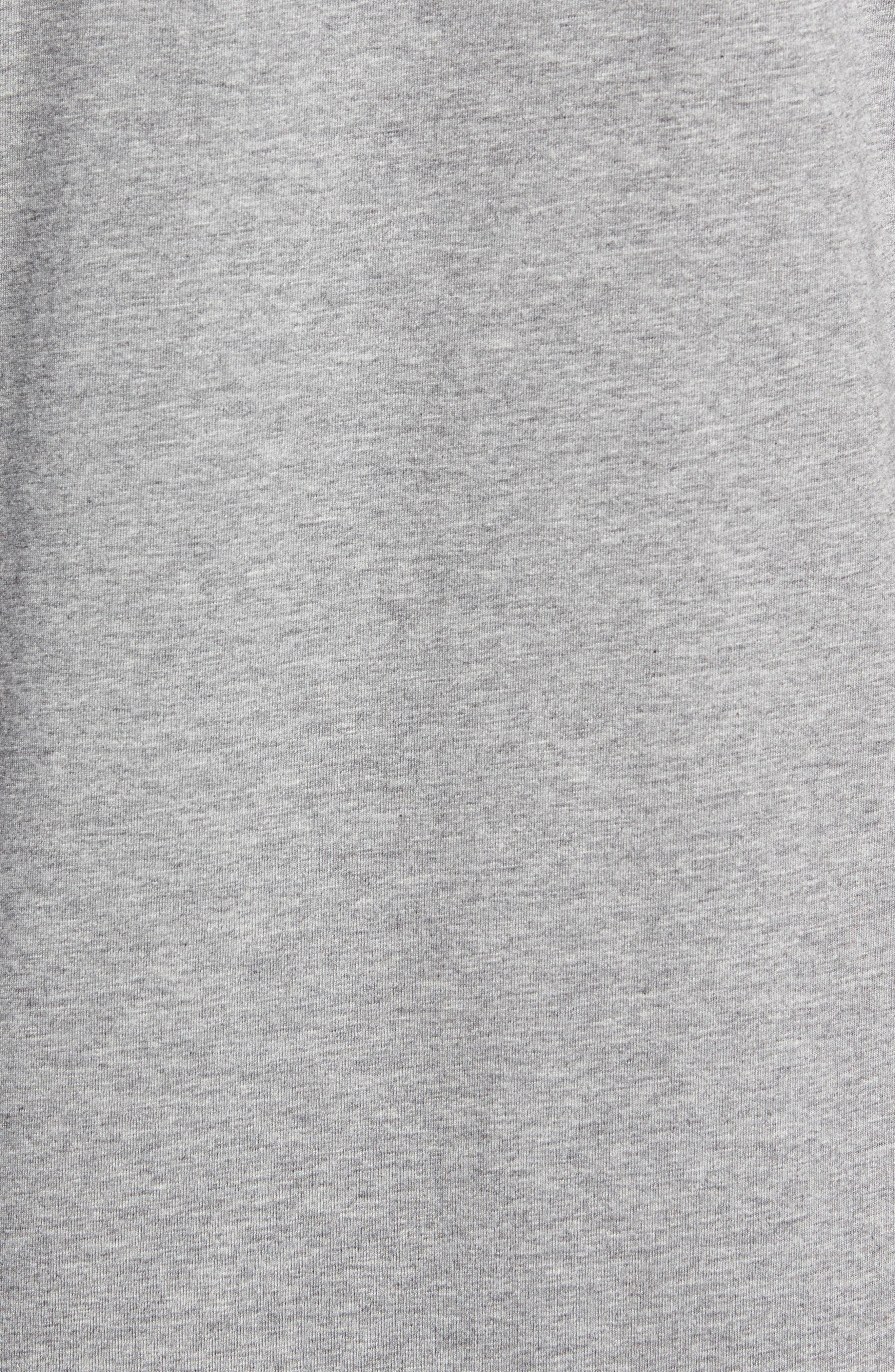 Longline T-Shirt,                             Alternate thumbnail 5, color,                             GREY