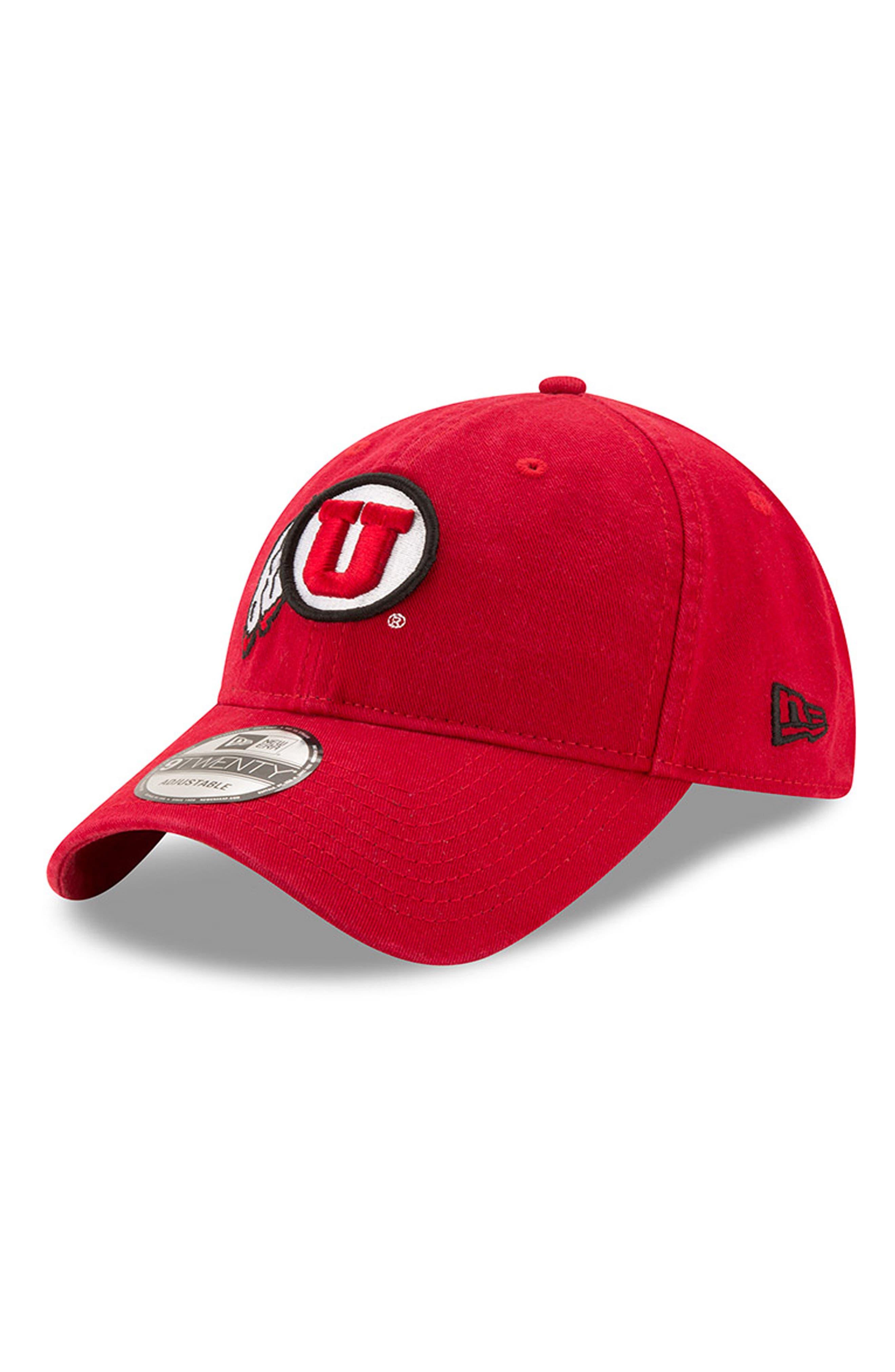 New Era Collegiate Core Classic - Utah Utes Baseball Cap,                             Main thumbnail 1, color,                             600
