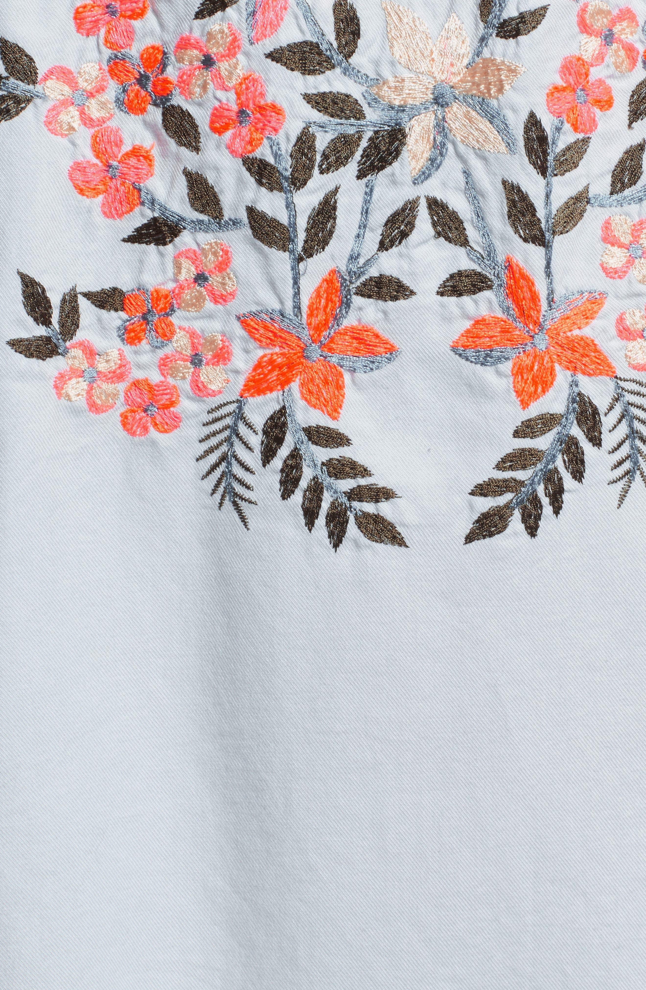Fleur Du Jour Shift Dress,                             Alternate thumbnail 7, color,                             BLUE
