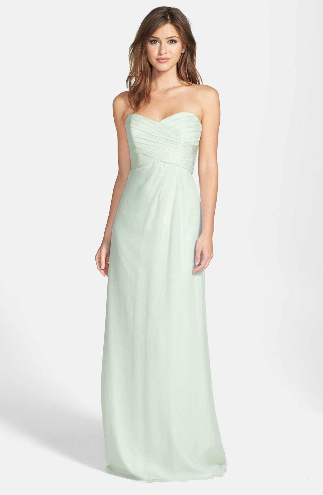 Strapless Crinkle Chiffon Gown,                             Main thumbnail 9, color,