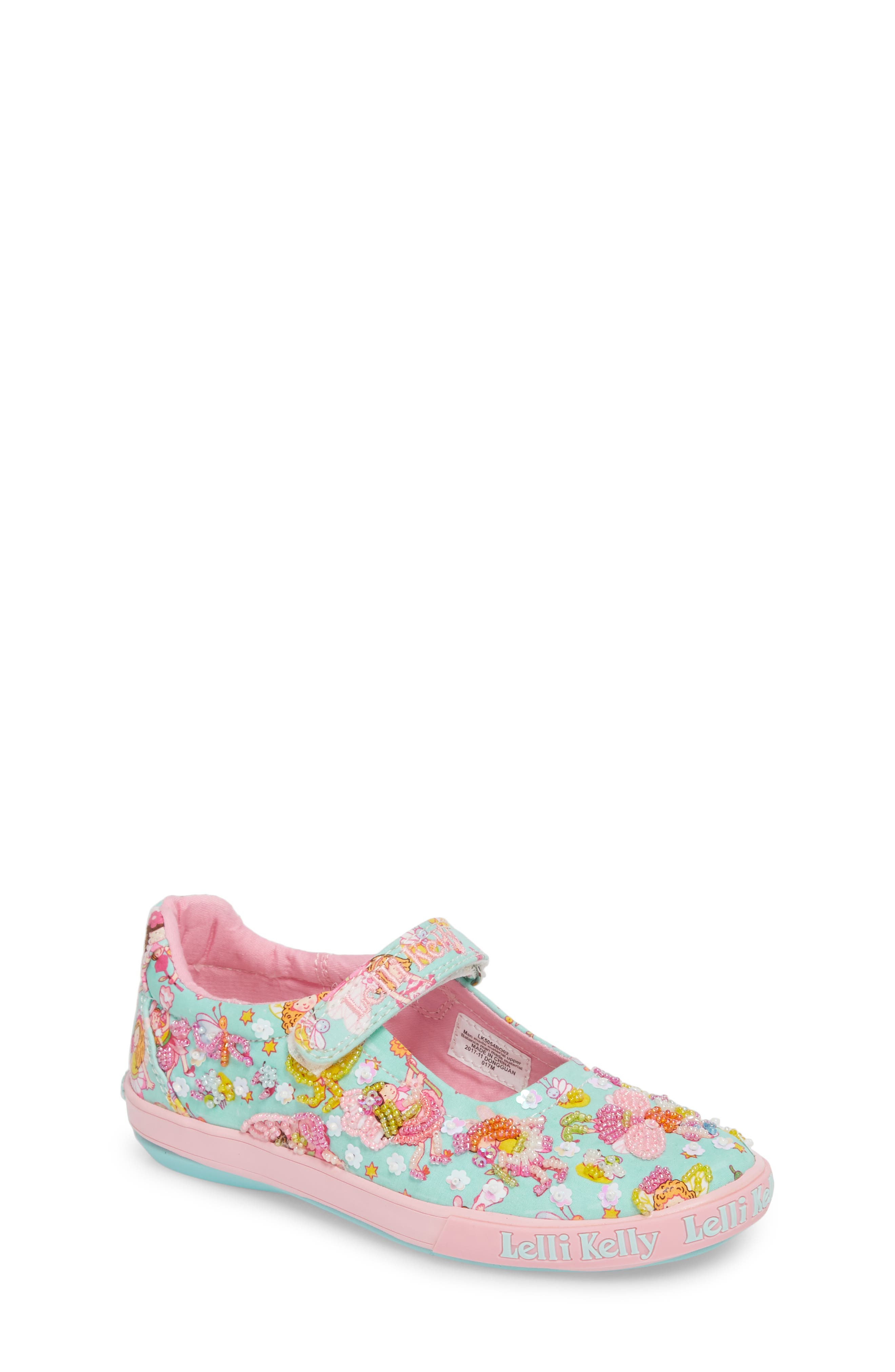 Beaded Mary Jane Sneaker,                         Main,                         color, TURQUOISE