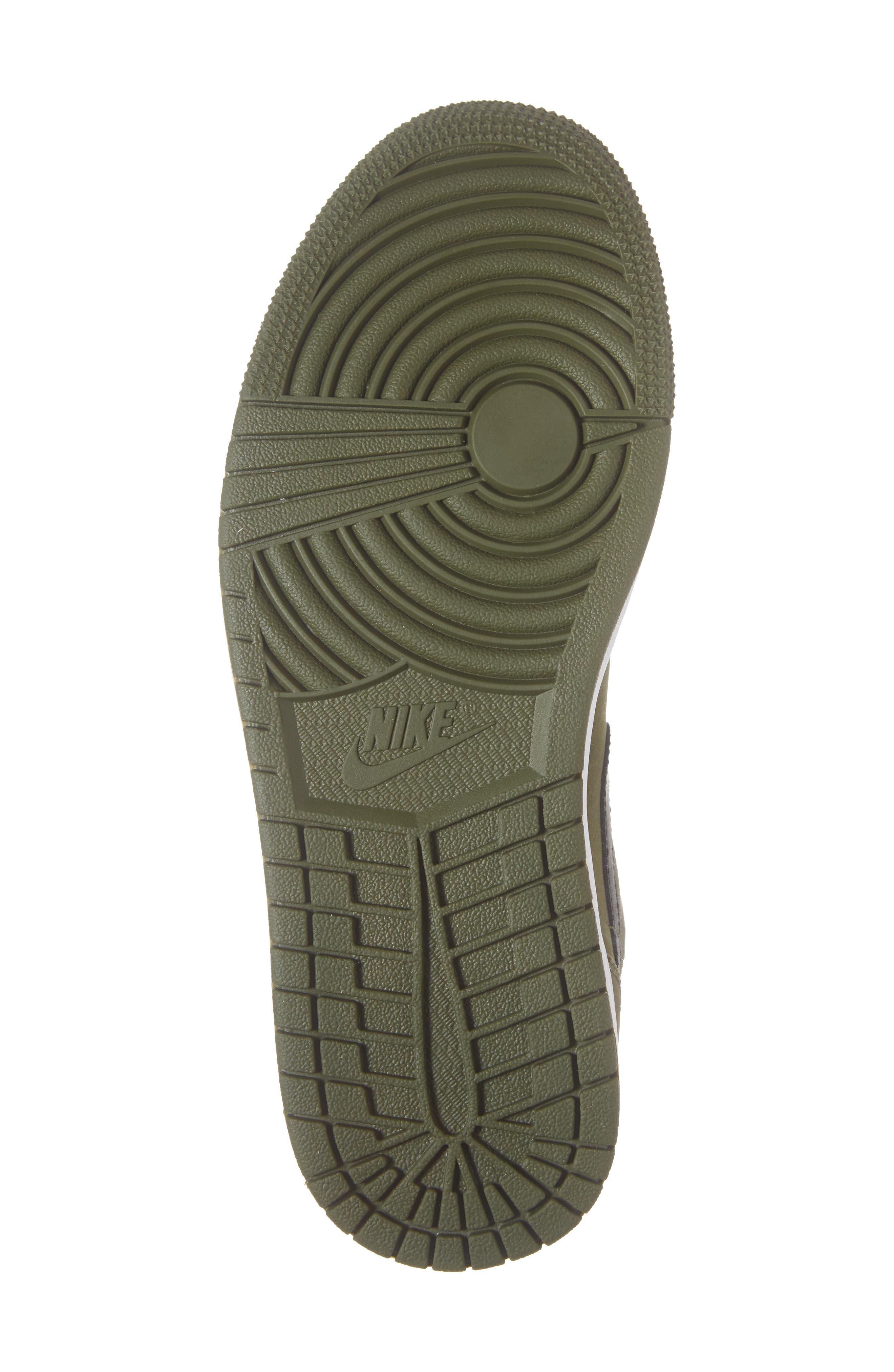 'Air Jordan 1 Mid' Sneaker,                             Alternate thumbnail 6, color,                             OLIVE CANVAS/ BLACK/ WHITE