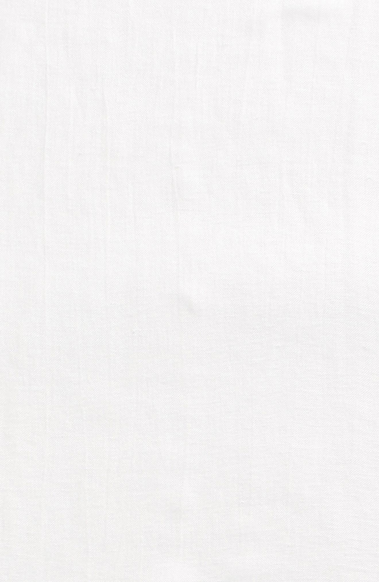 Caslon<sup>®</sup> Linen Blend Scarf,                             Alternate thumbnail 3, color,                             WHITE