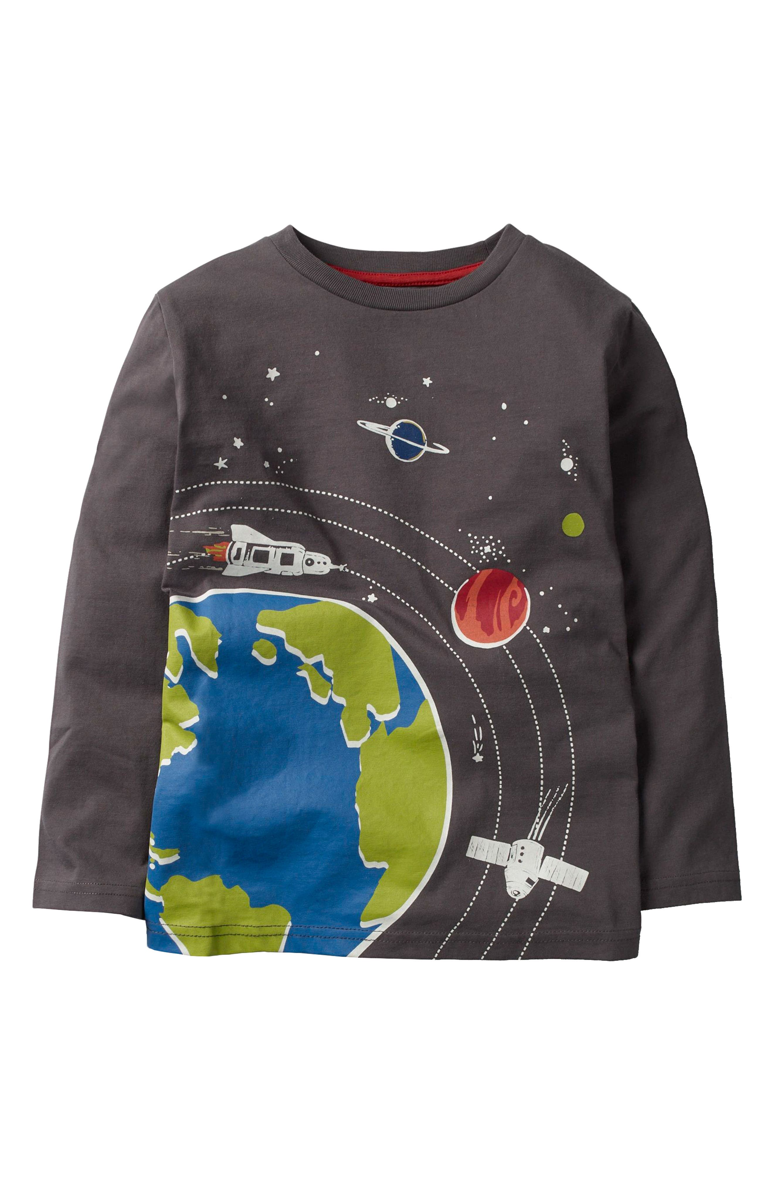 Glow in the Dark Space Long Sleeve T-Shirt,                         Main,                         color, 024