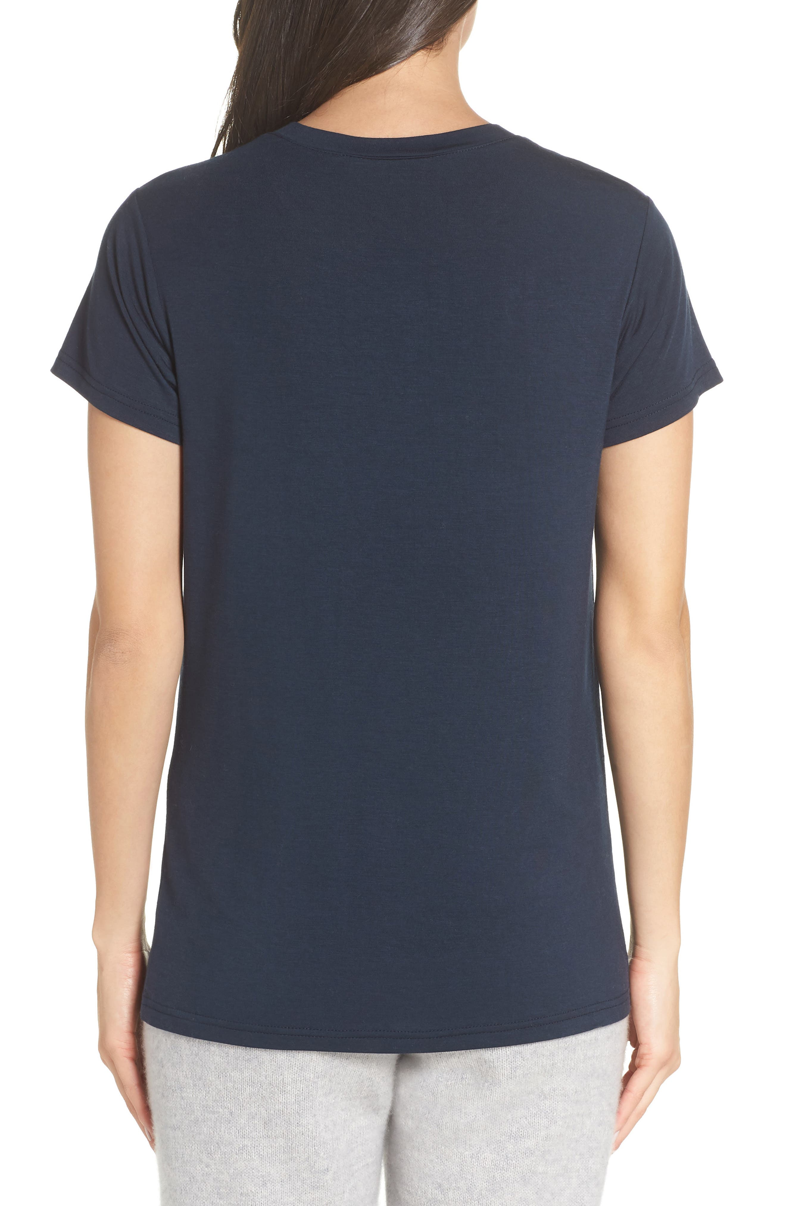 Easy Tee,                             Alternate thumbnail 2, color,                             NAVY CARBON