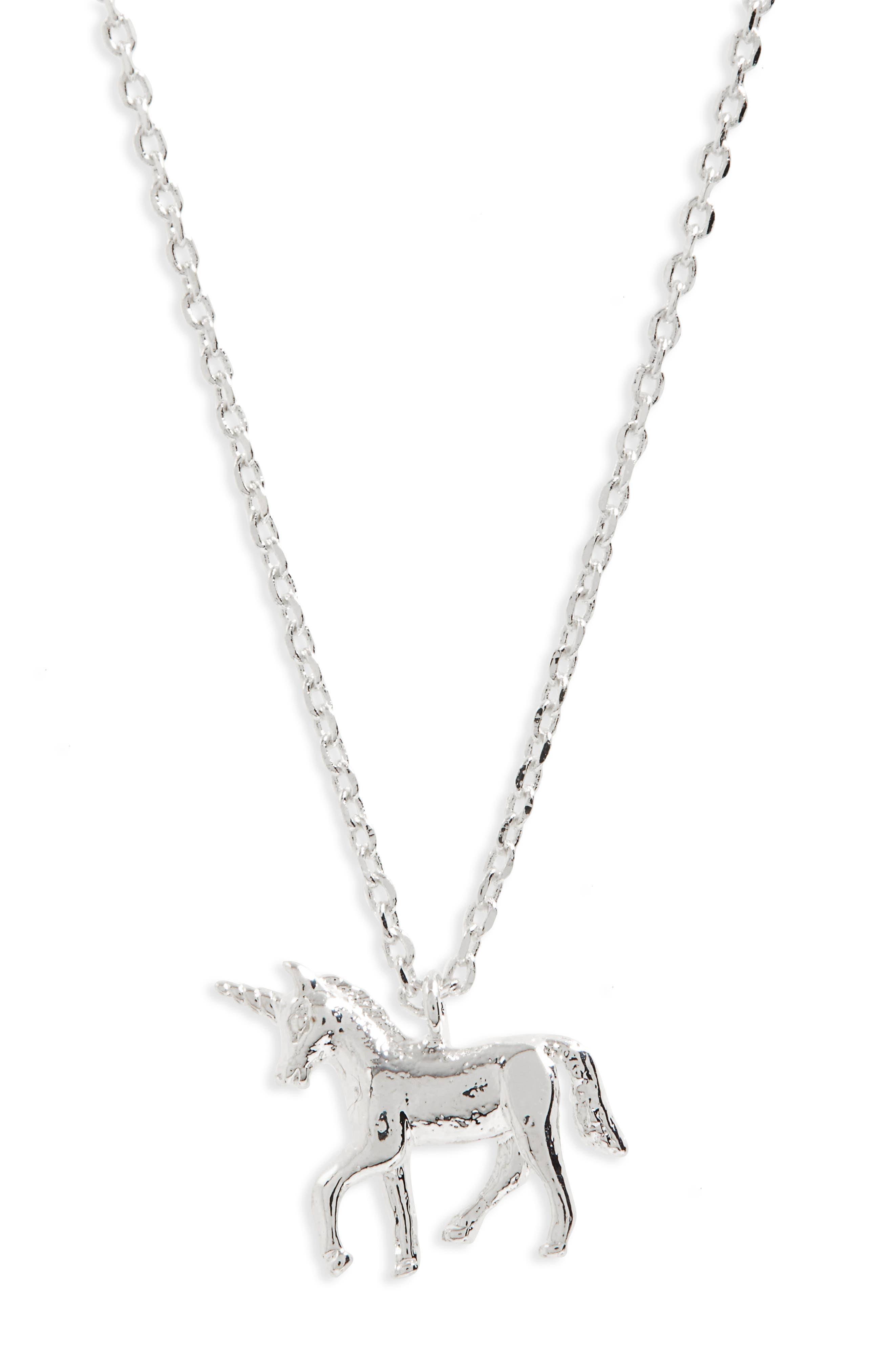 Treasure Me Unicorn Necklace,                             Main thumbnail 1, color,                             040