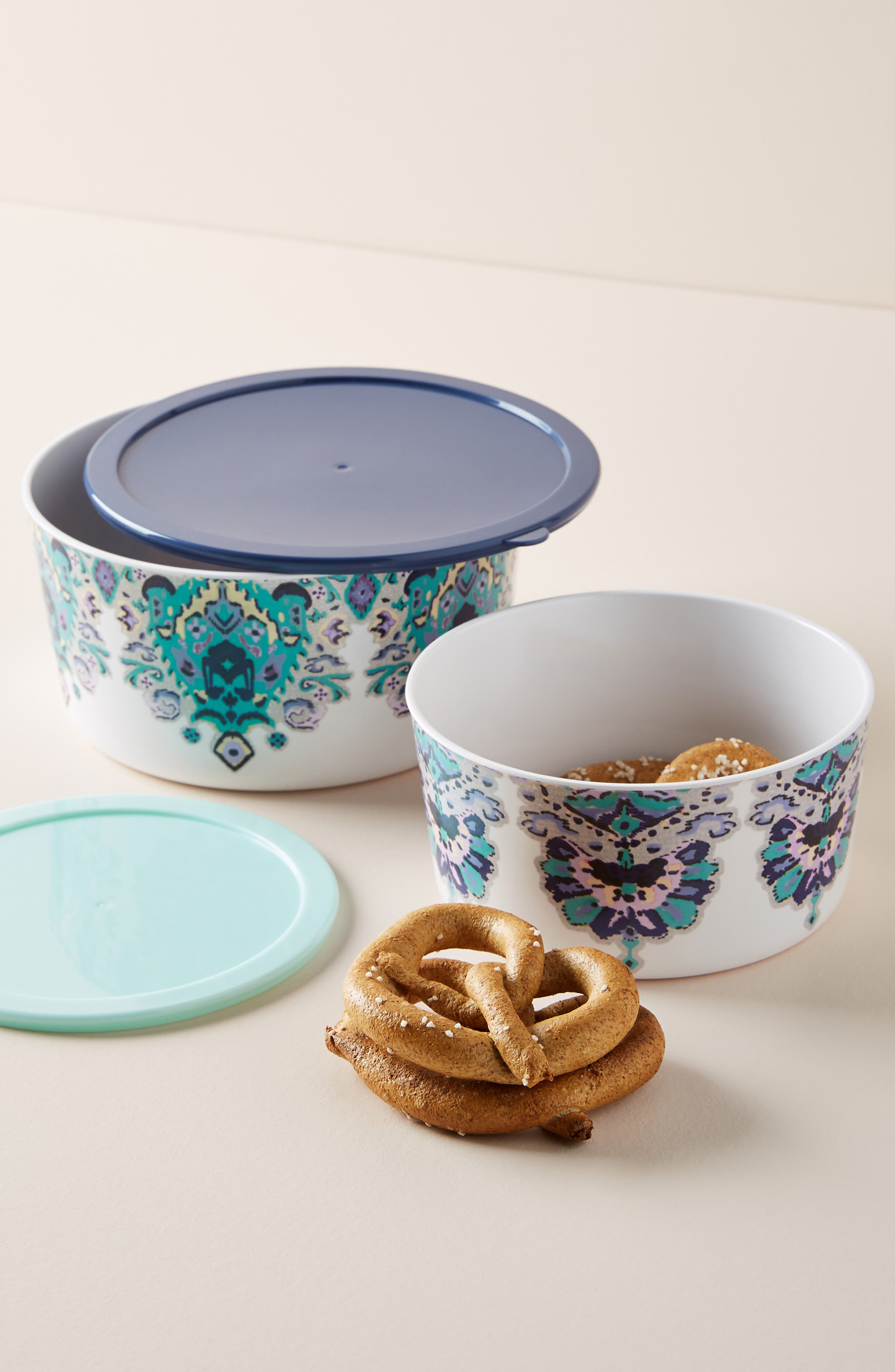 Lilia Melamine Storage Bowl,                             Alternate thumbnail 2, color,                             AQUA - SMALL