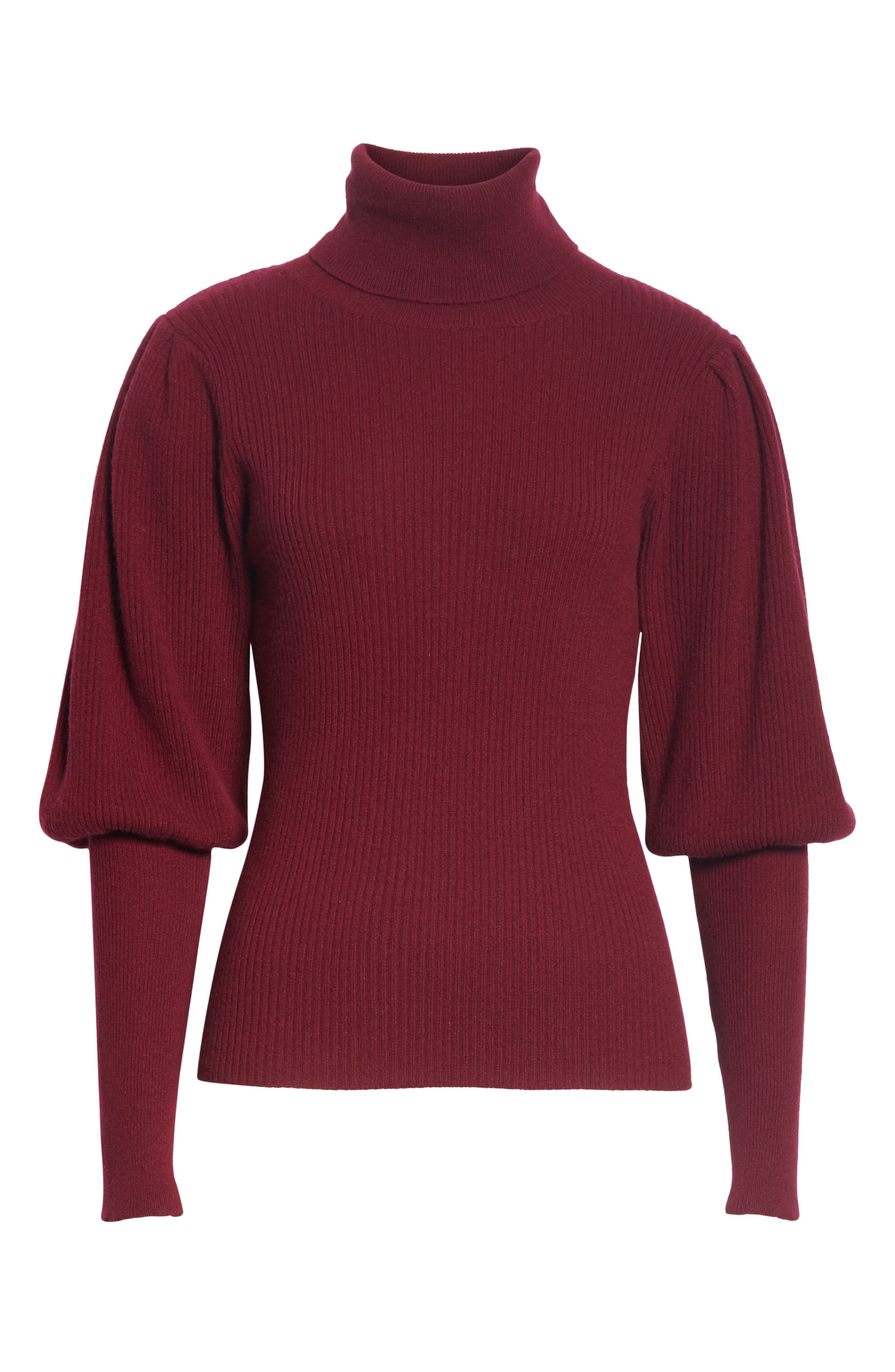 Bishop Sleeve Cashmere Sweater,                             Alternate thumbnail 6, color,                             933