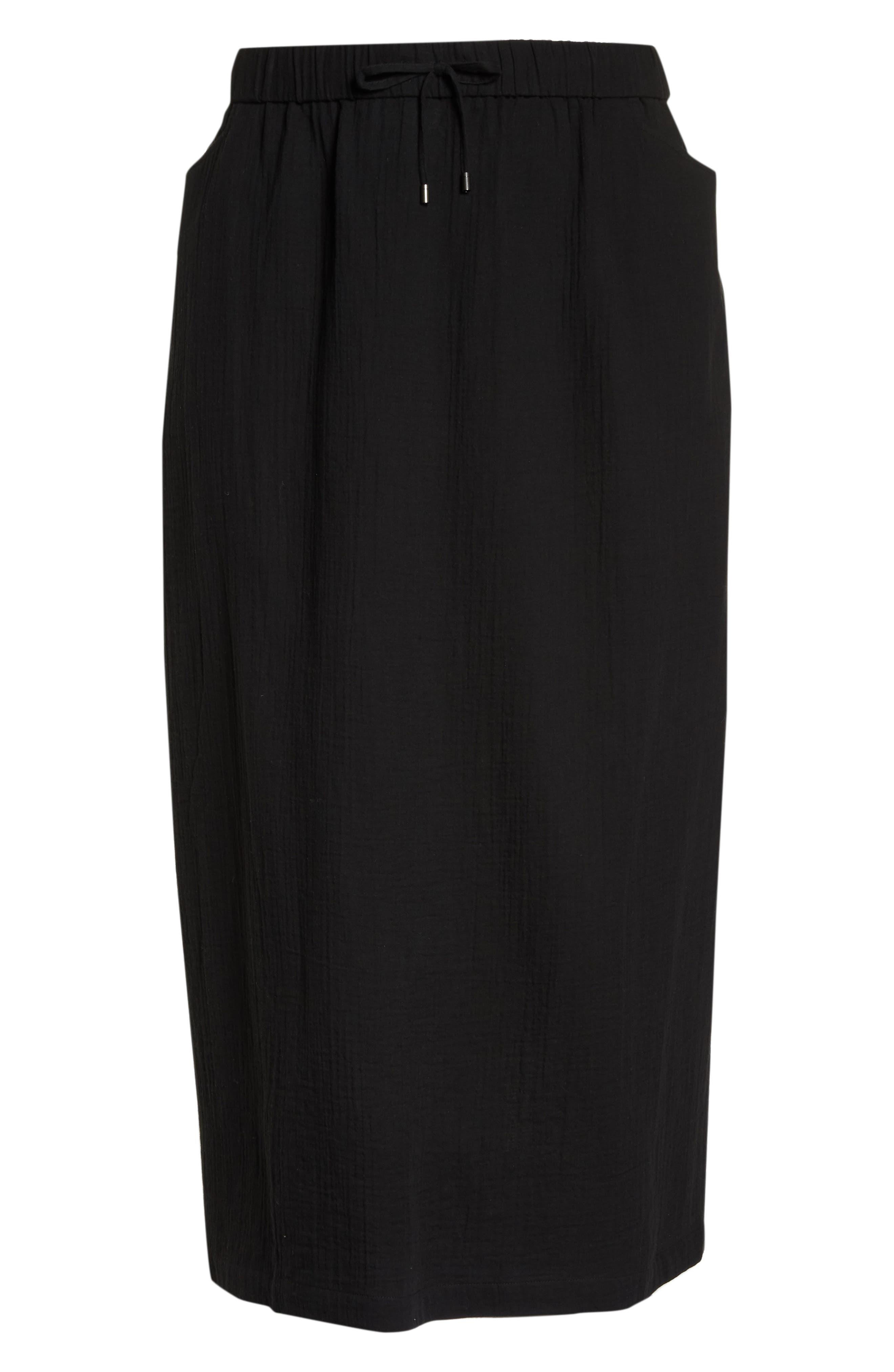 Drawstring Maxi Skirt,                             Alternate thumbnail 7, color,                             001