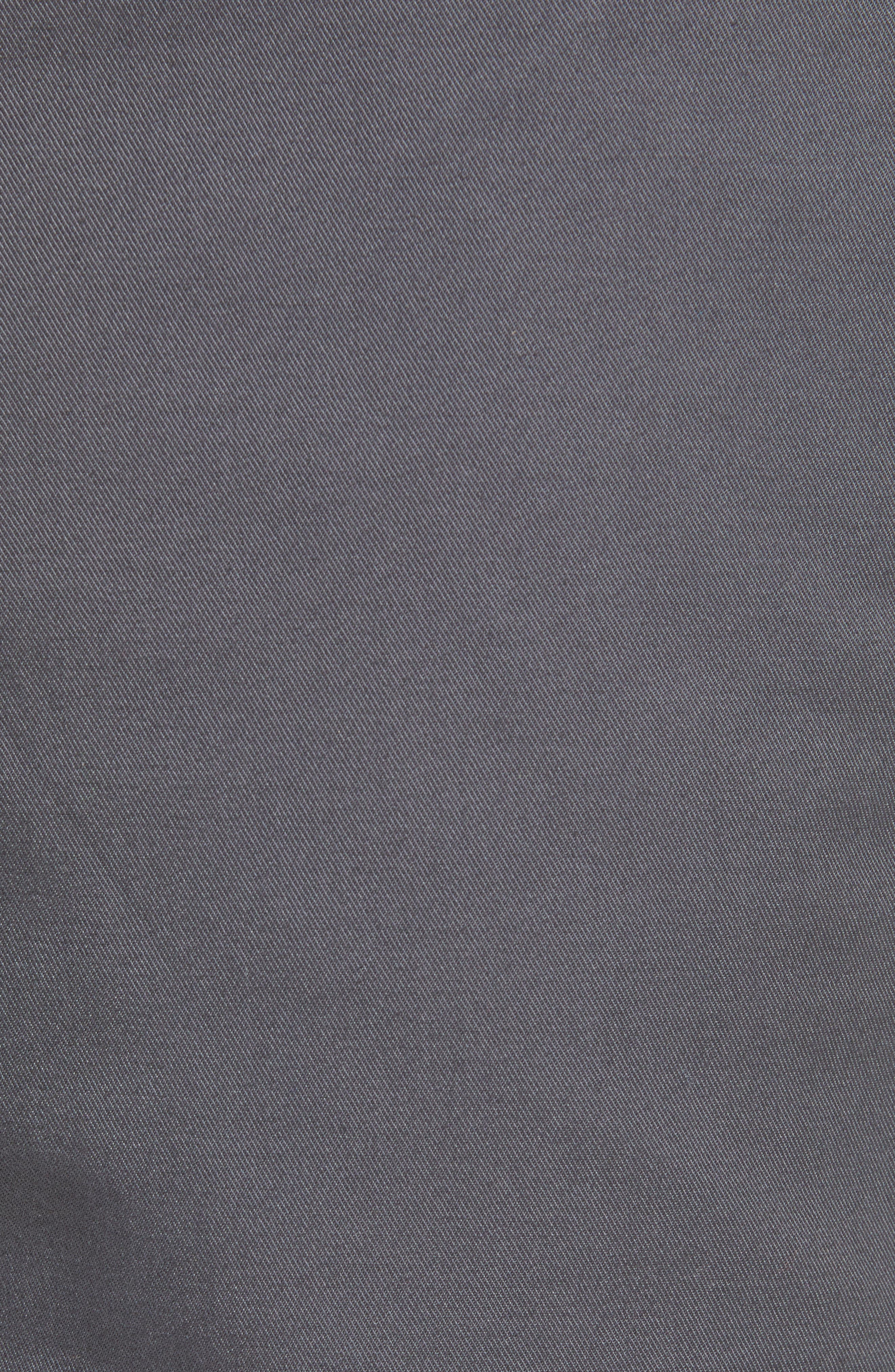 Slim Fit Flannel Lined Chinos,                             Alternate thumbnail 5, color,                             COAL GREY