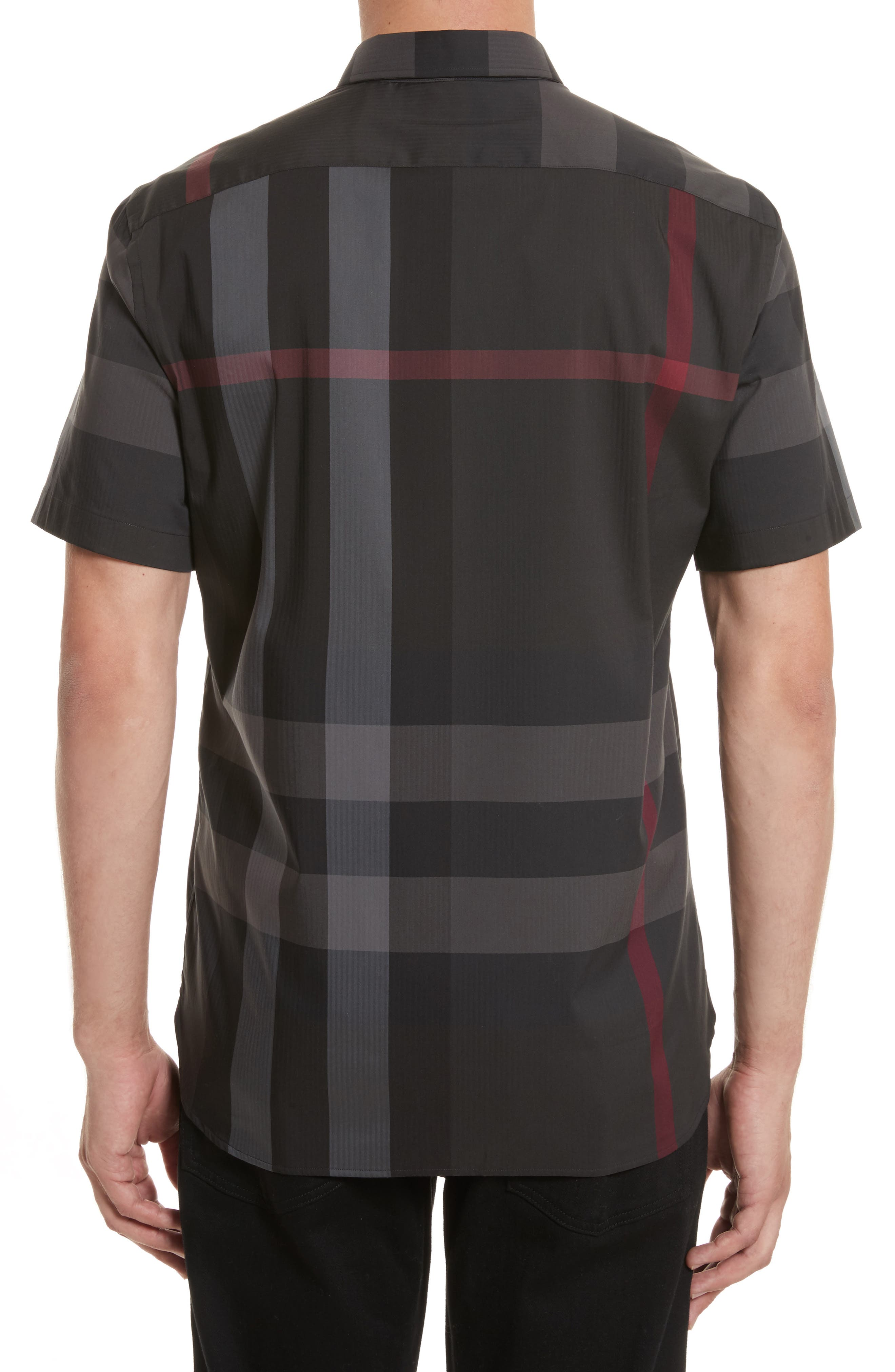 BURBERRY,                             Thornaby Trim Fit Check Sport Shirt,                             Alternate thumbnail 2, color,                             026