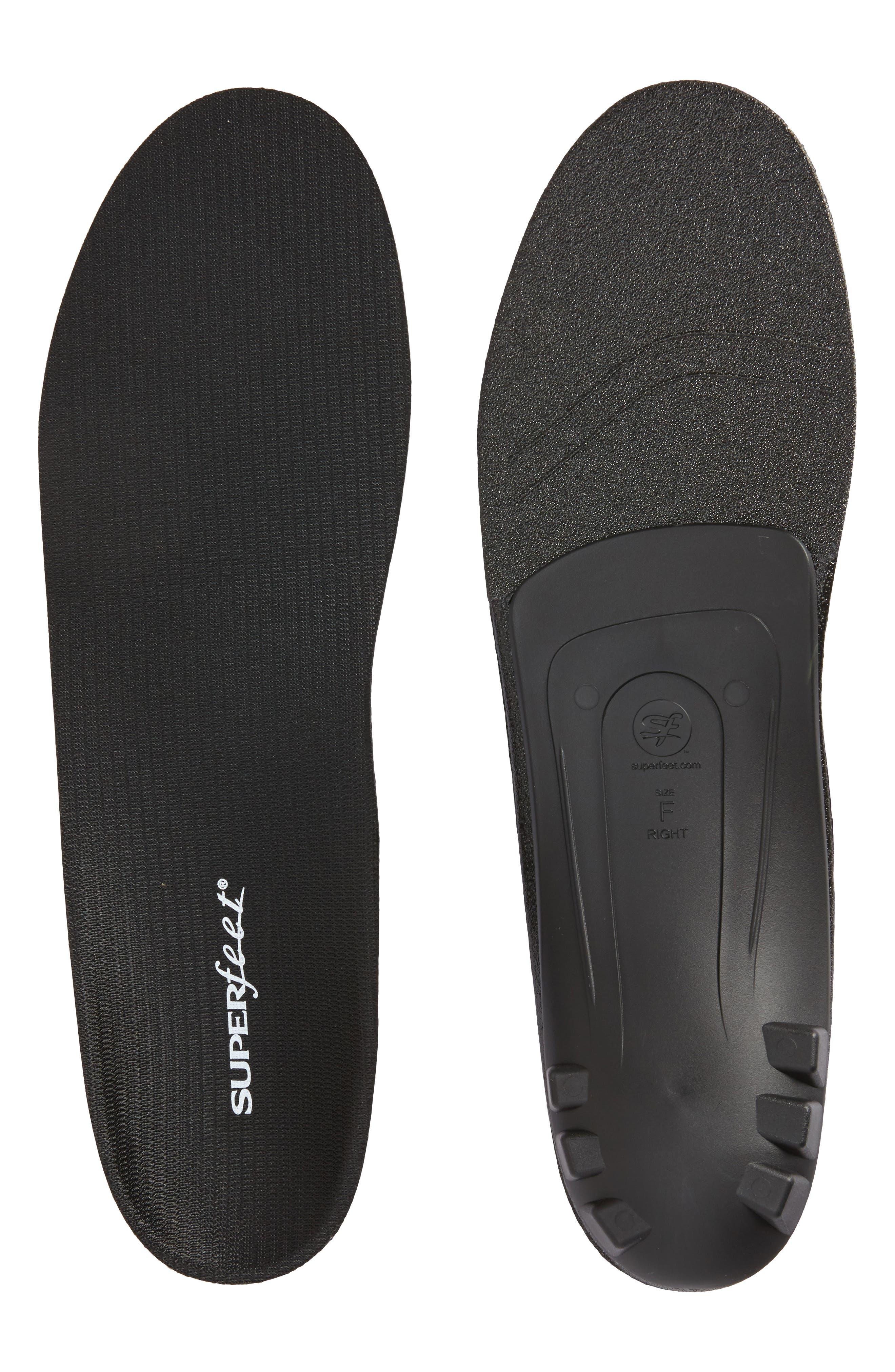 Dress Fit Black Full Length Insoles,                             Main thumbnail 1, color,                             BLACK