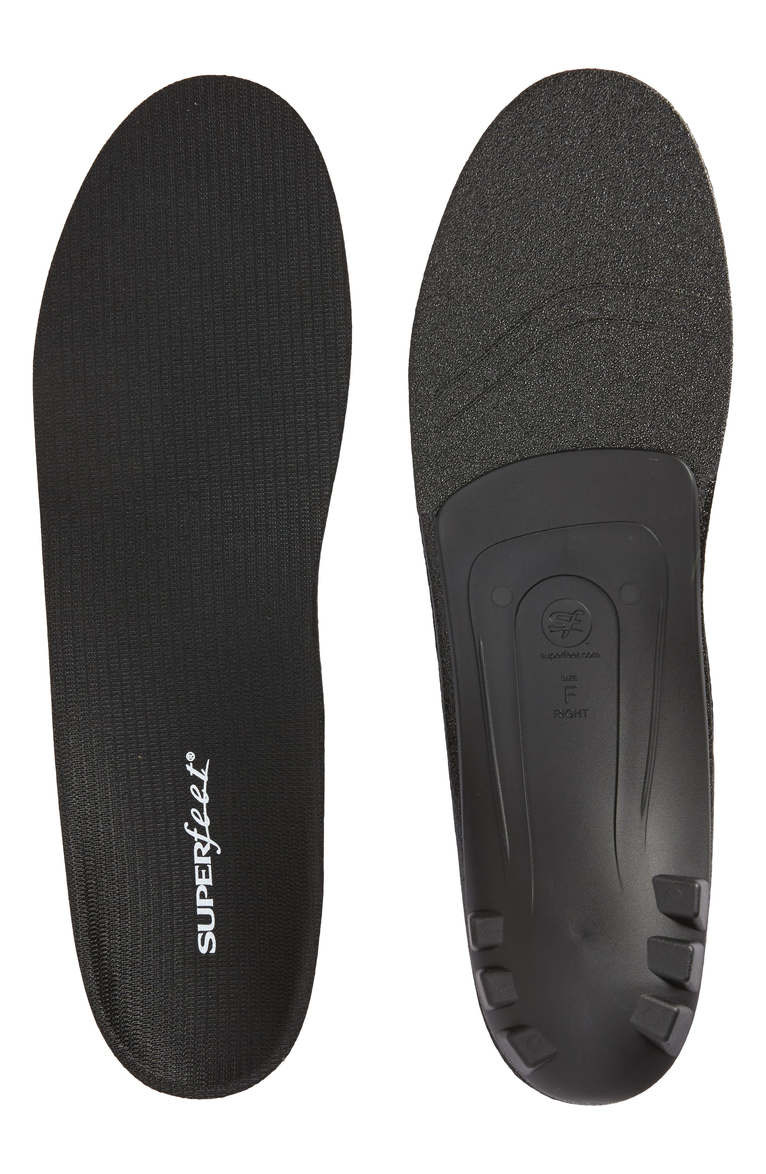Dress Fit Black Full Length Insoles,                         Main,                         color, BLACK