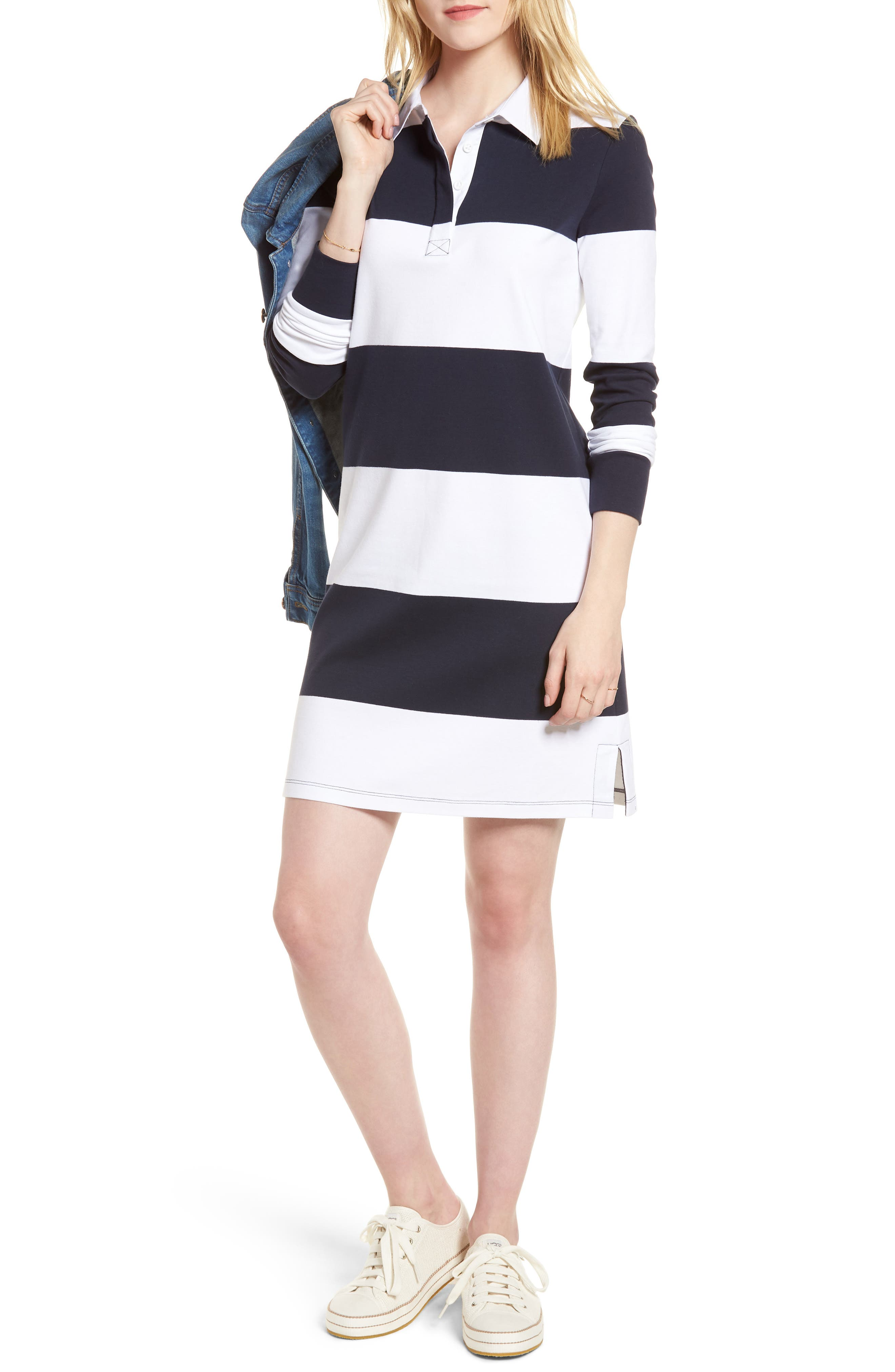 Cotton Rugby Dress,                             Main thumbnail 1, color,                             410