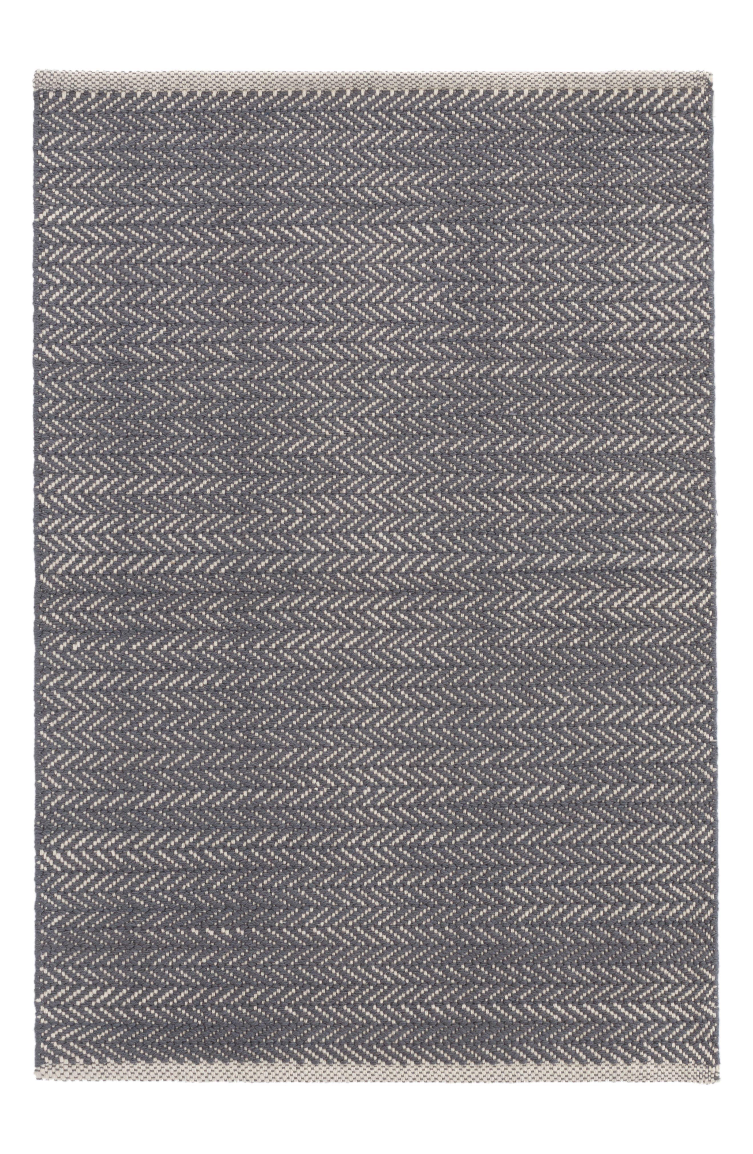 Herringbone Rug,                             Main thumbnail 1, color,                             BLUE