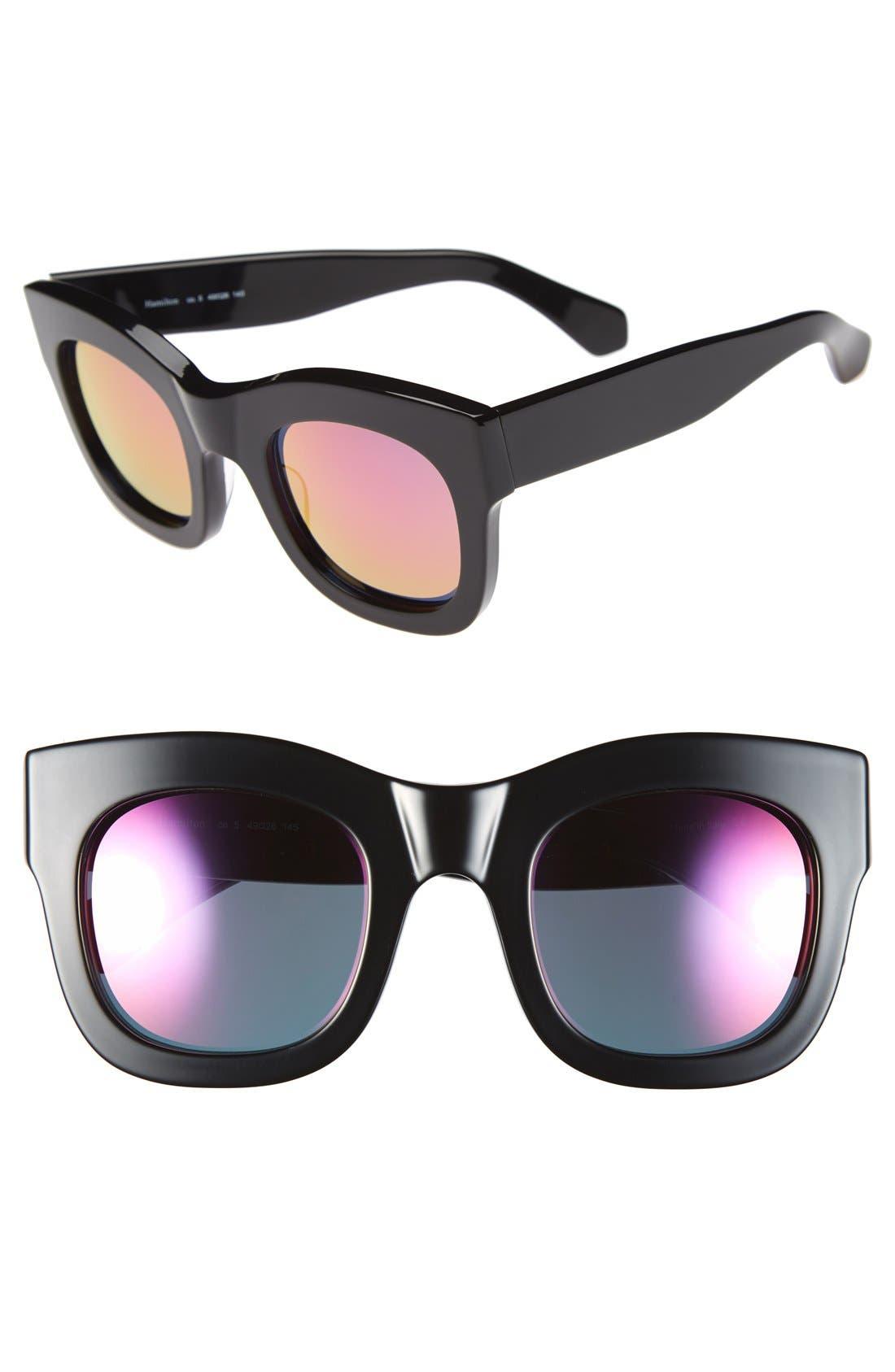 'Hamilton' 49mm Retro Sunglasses,                             Main thumbnail 1, color,