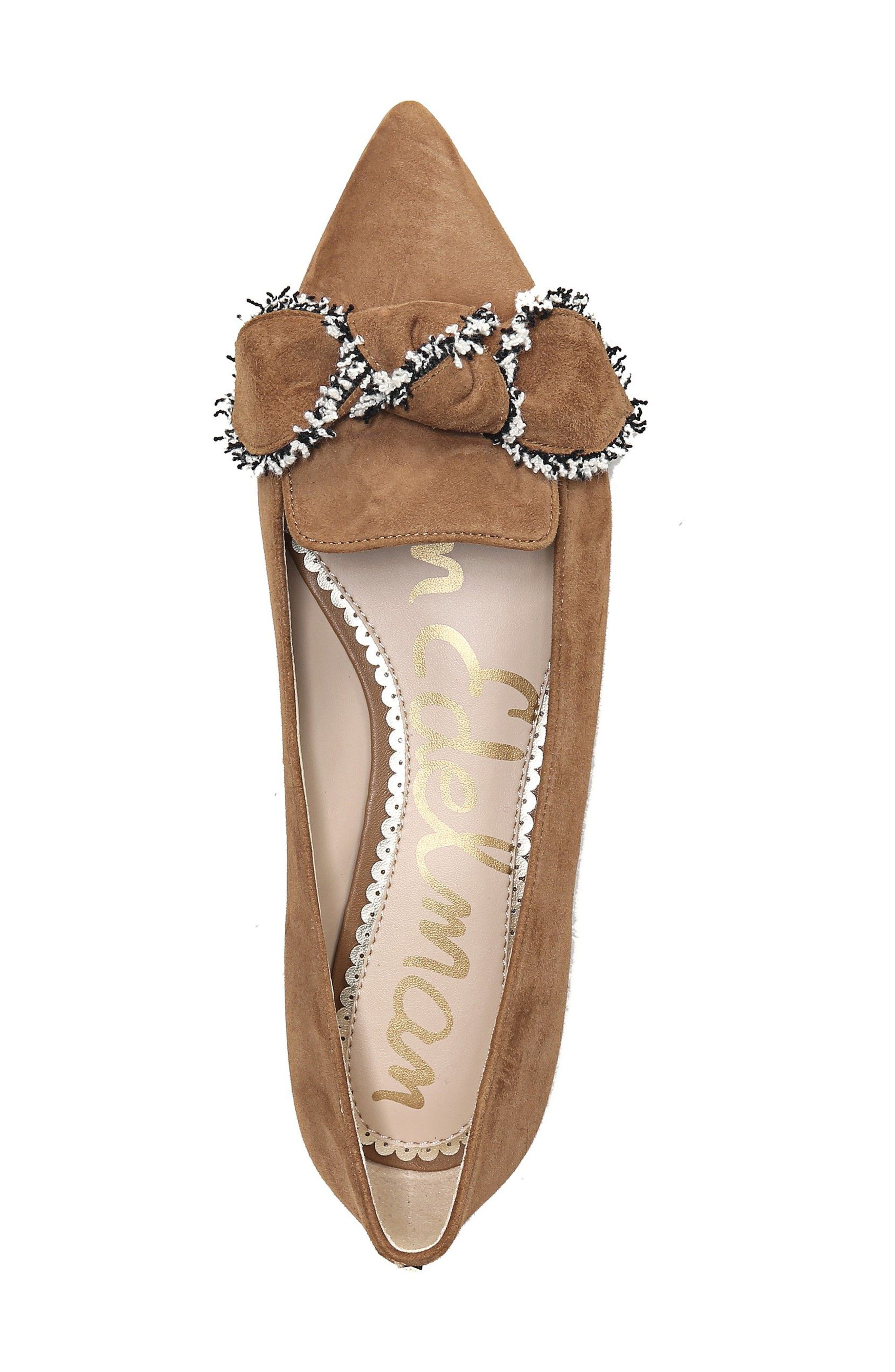 Rochester Bow Pointy Toe Flat,                             Alternate thumbnail 15, color,