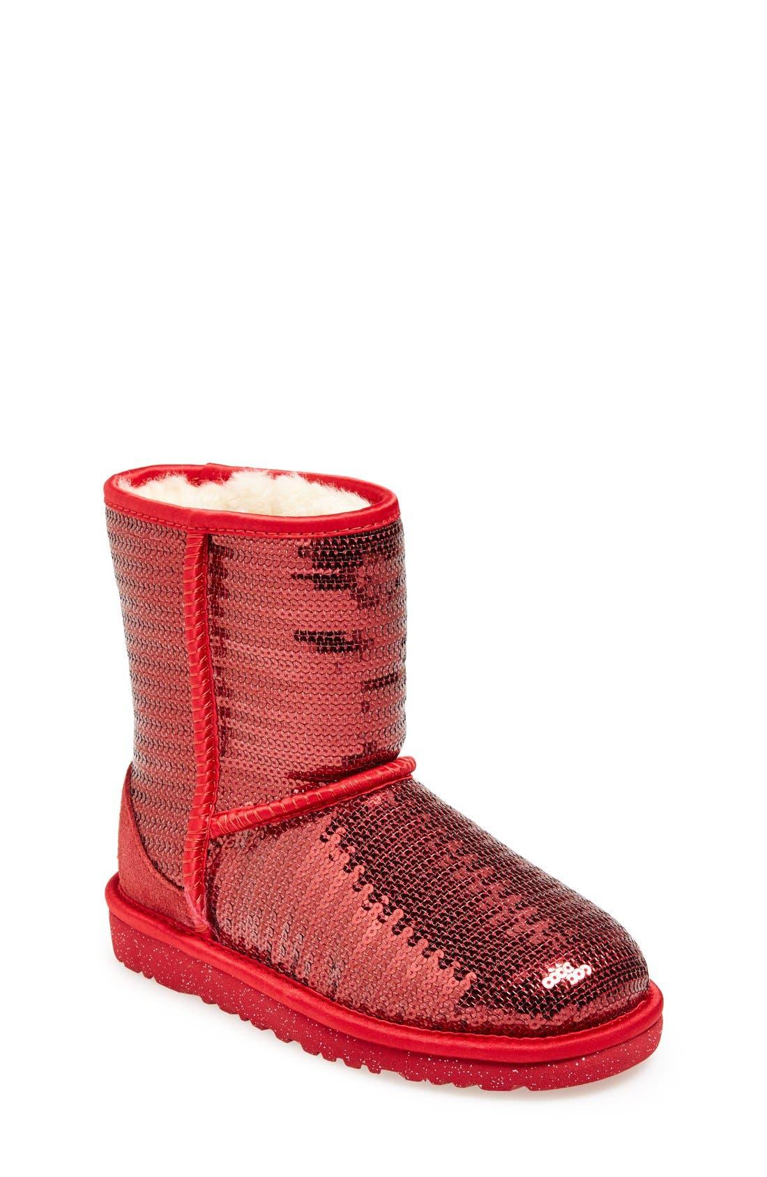 'Classic Short Sparkle' Boot,                             Main thumbnail 4, color,