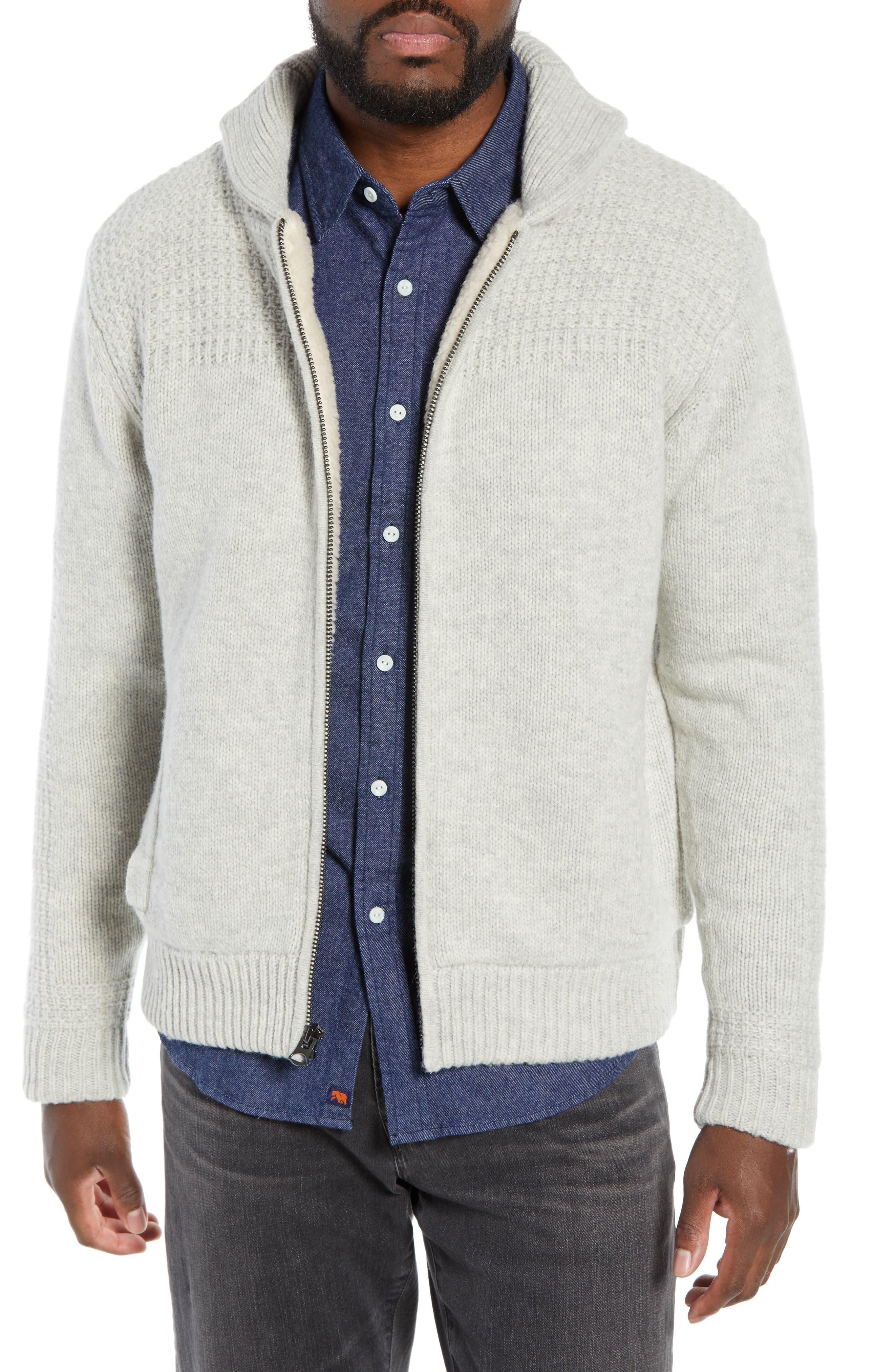 The Normal Brand Regular Fit Zip Sweater Jacket, Beige