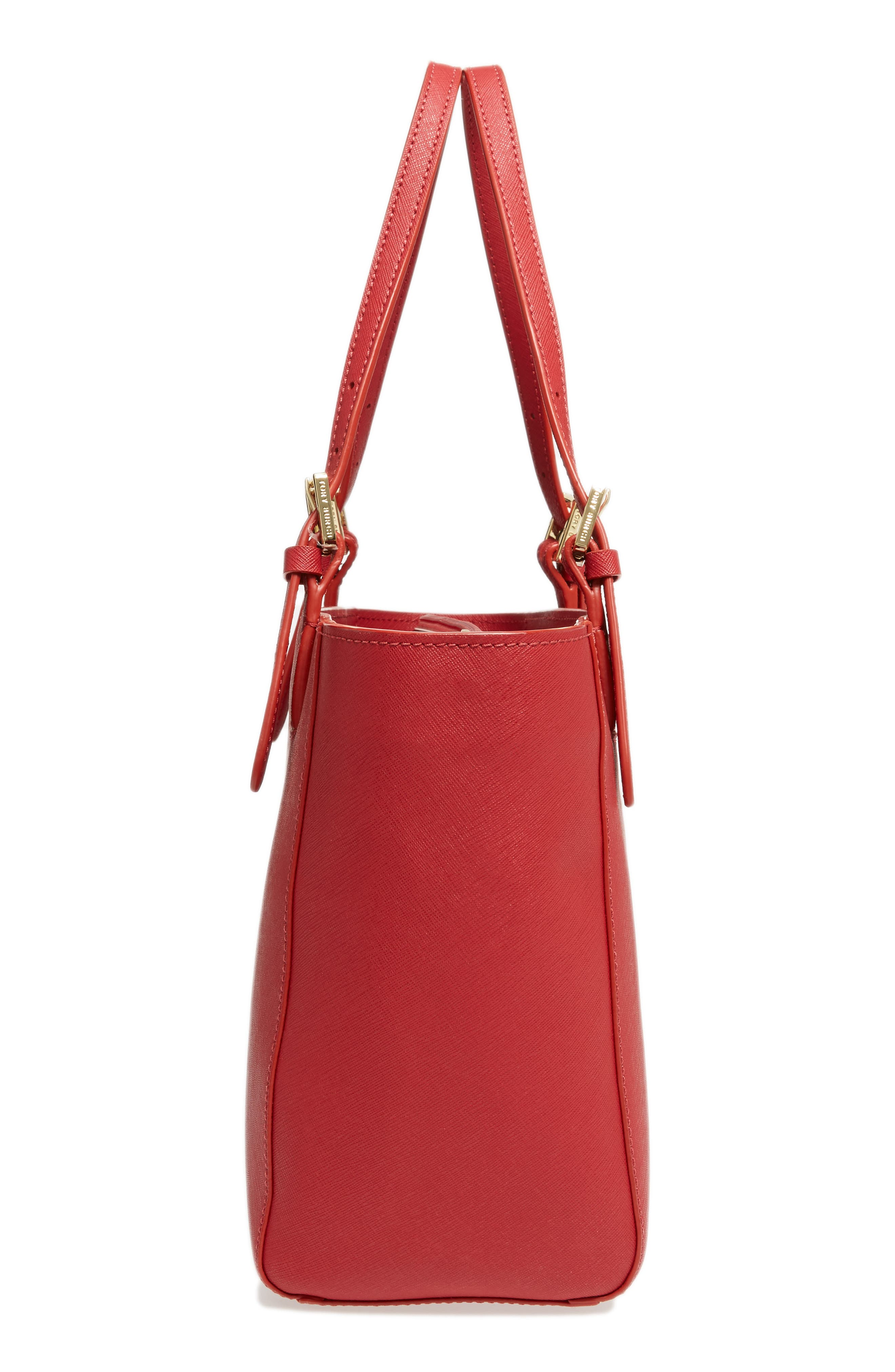 'Small York' Saffiano Leather Buckle Tote,                             Alternate thumbnail 60, color,