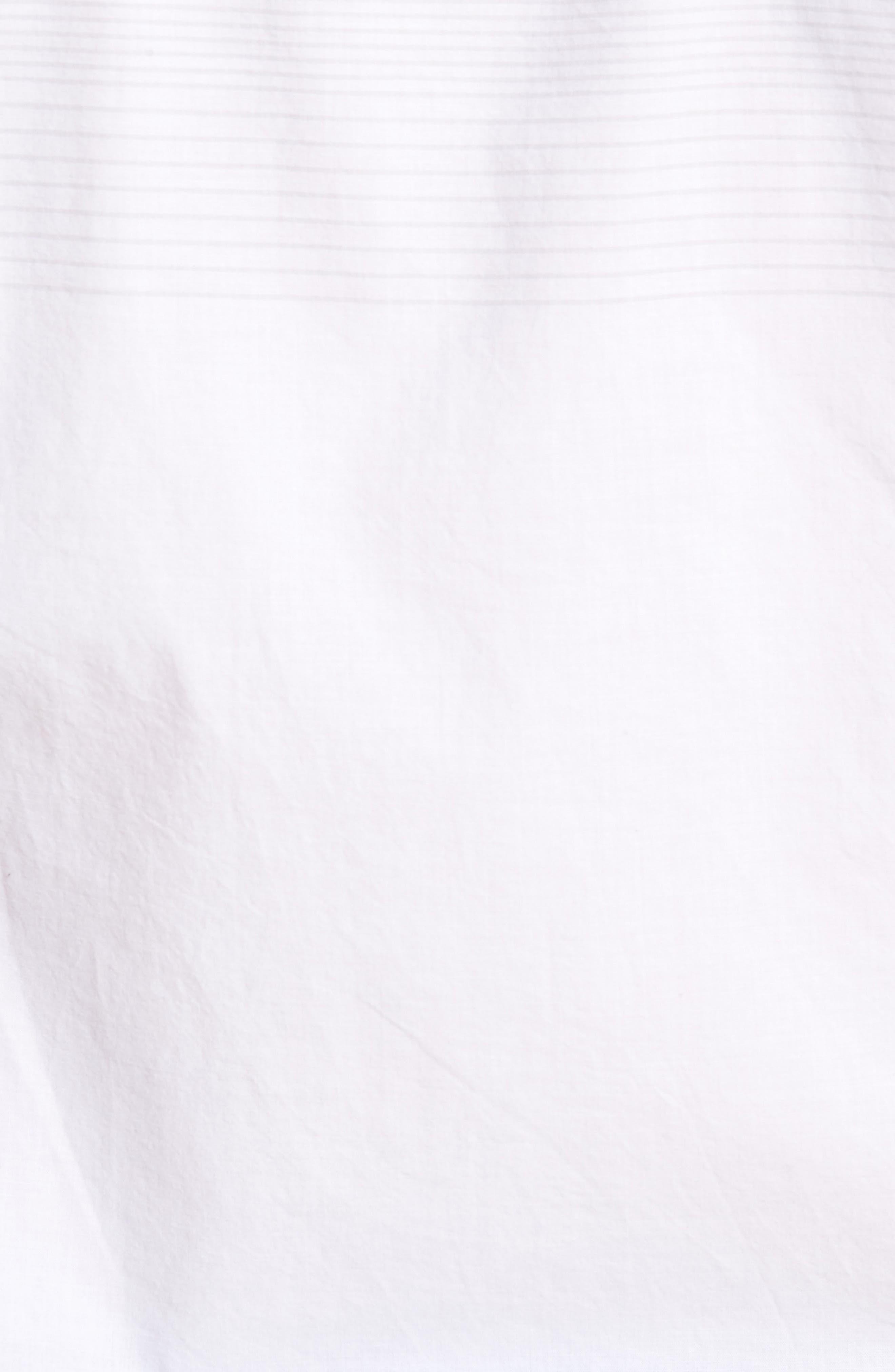 Charlie Pinstripe Woven Shirt,                             Alternate thumbnail 5, color,                             100