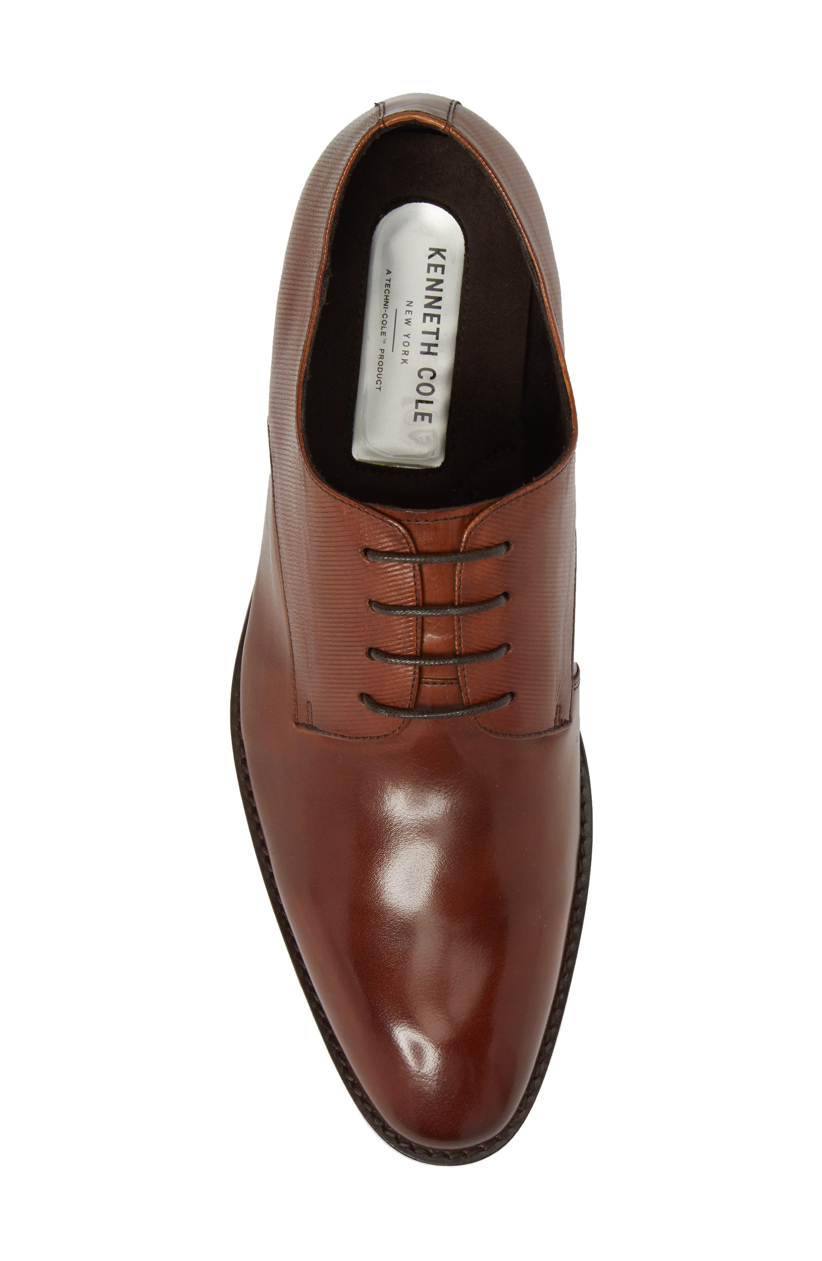 KENNETH COLE NEW YORK,                             Courage Plain Toe Derby,                             Alternate thumbnail 5, color,                             COGNAC LEATHER