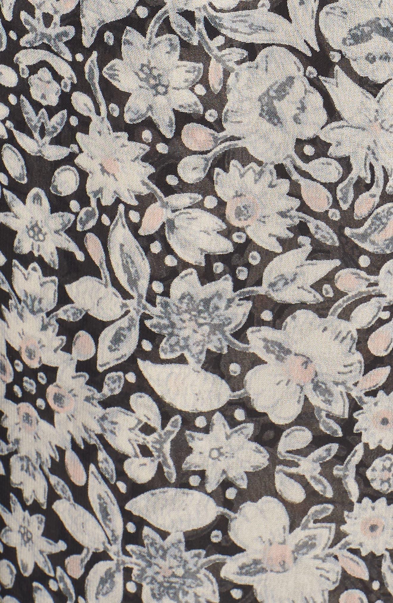 Dominik Floral Peasant Top,                             Alternate thumbnail 6, color,                             020