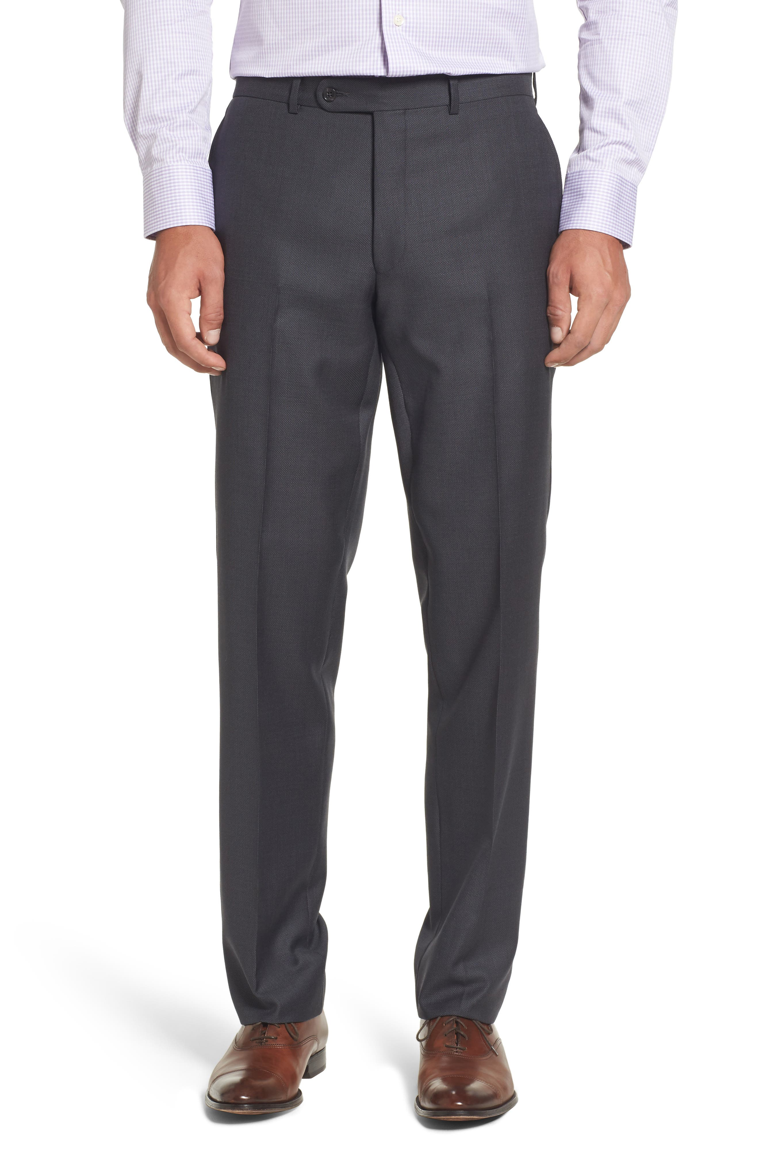 Ryan Classic Fit Solid Wool Suit,                             Alternate thumbnail 6, color,                             010