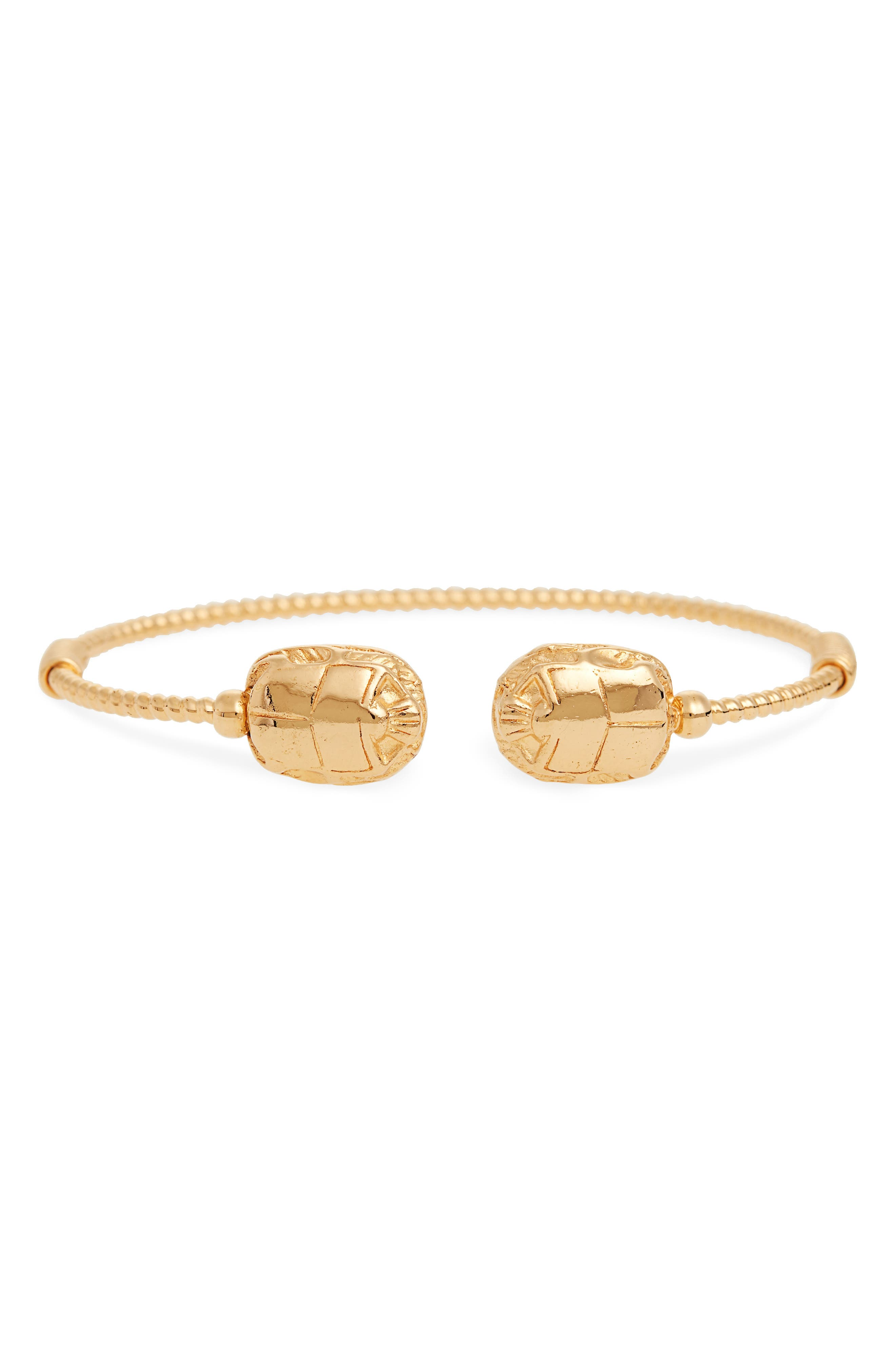 Duality Scaramouche Cuff Bracelet,                         Main,                         color, GOLD