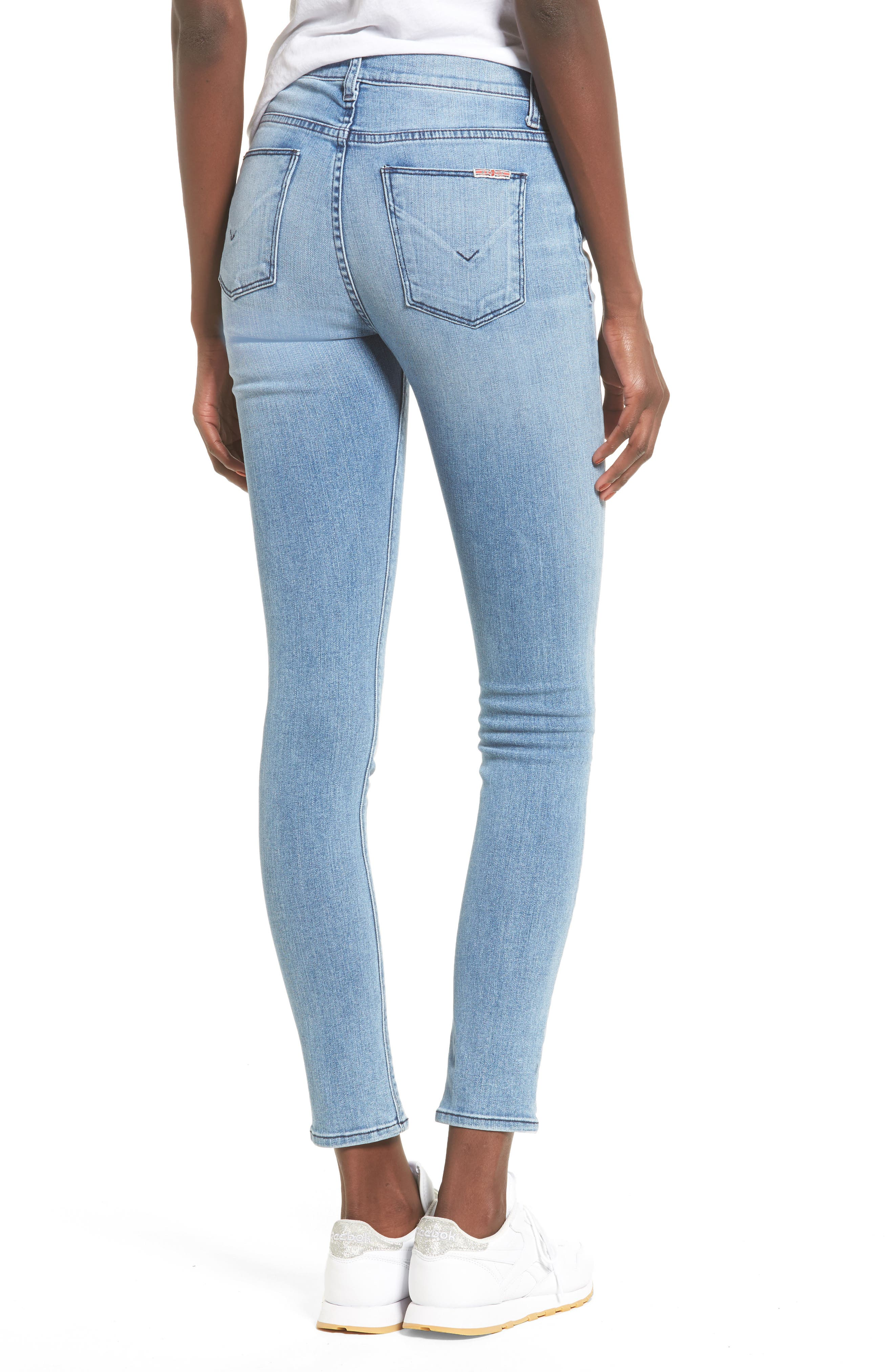Ciara High Waist Skinny Jeans,                             Alternate thumbnail 4, color,