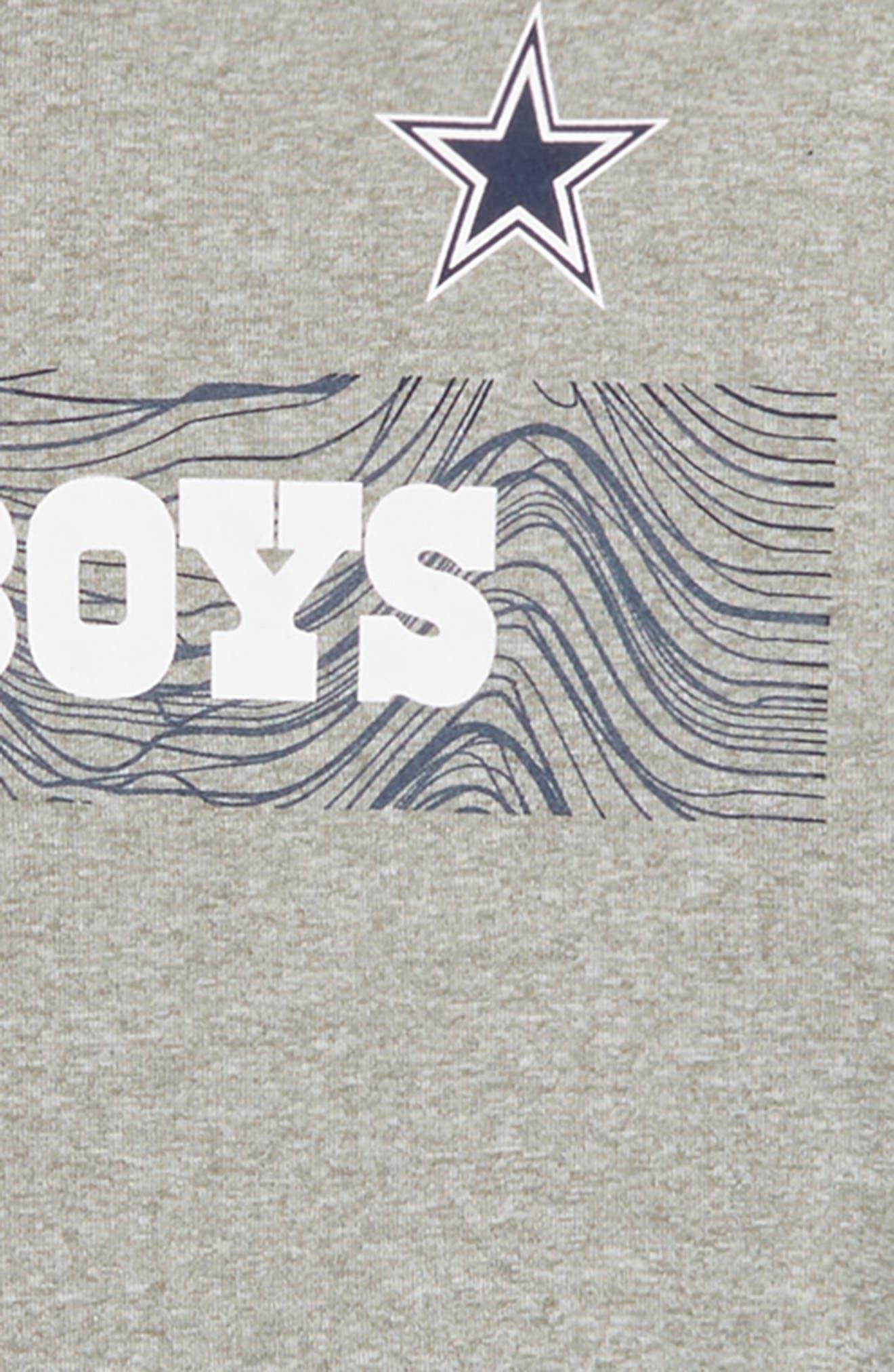 Nike NFL Dallas Cowboys Dry T-Shirt,                             Alternate thumbnail 2, color,                             DARK GREY HEATHER
