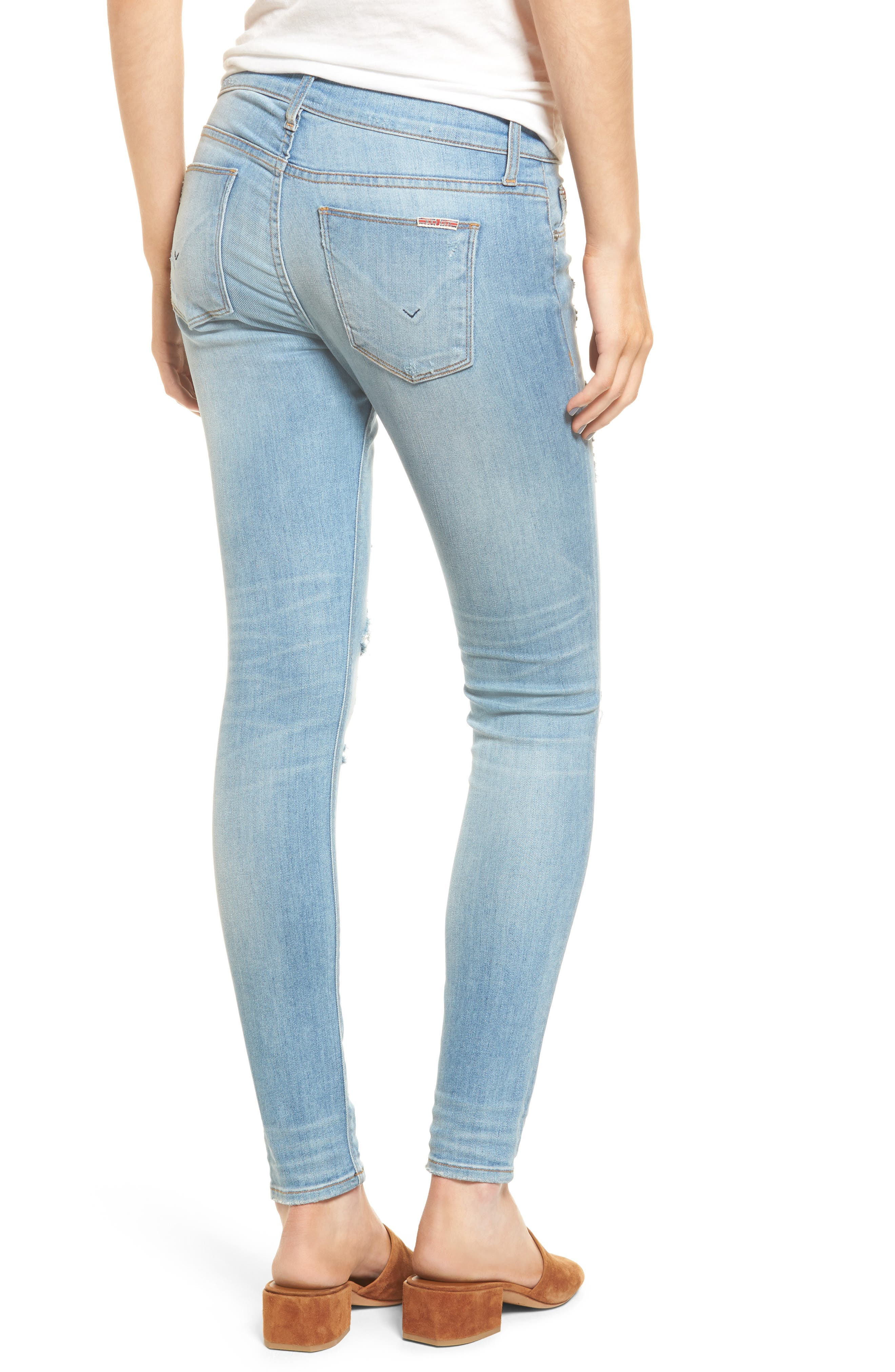 Krista Ankle Super Skinny Jeans,                             Alternate thumbnail 4, color,