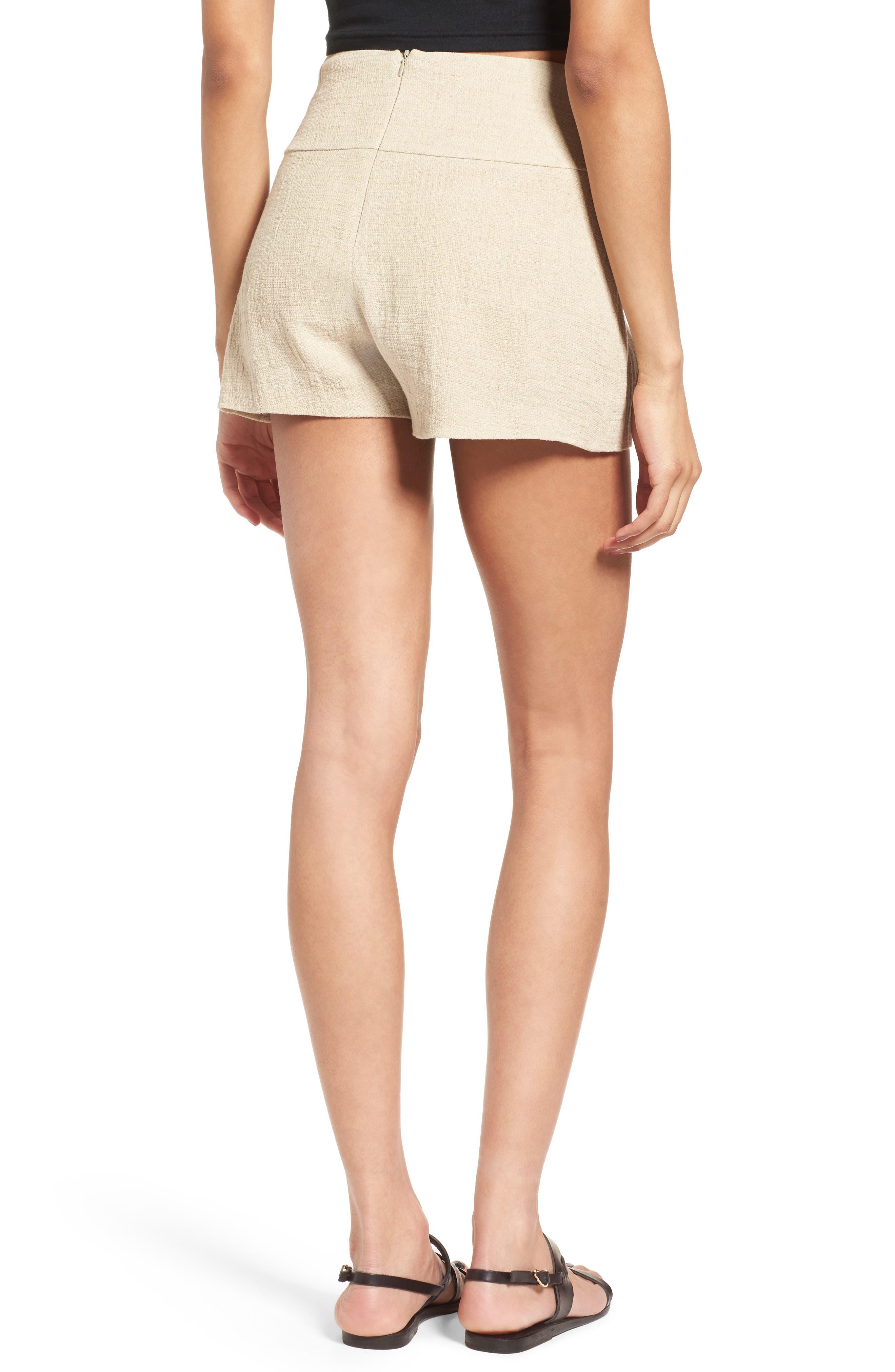 Tie Waist Linen & Cotton Shorts,                             Alternate thumbnail 2, color,                             250