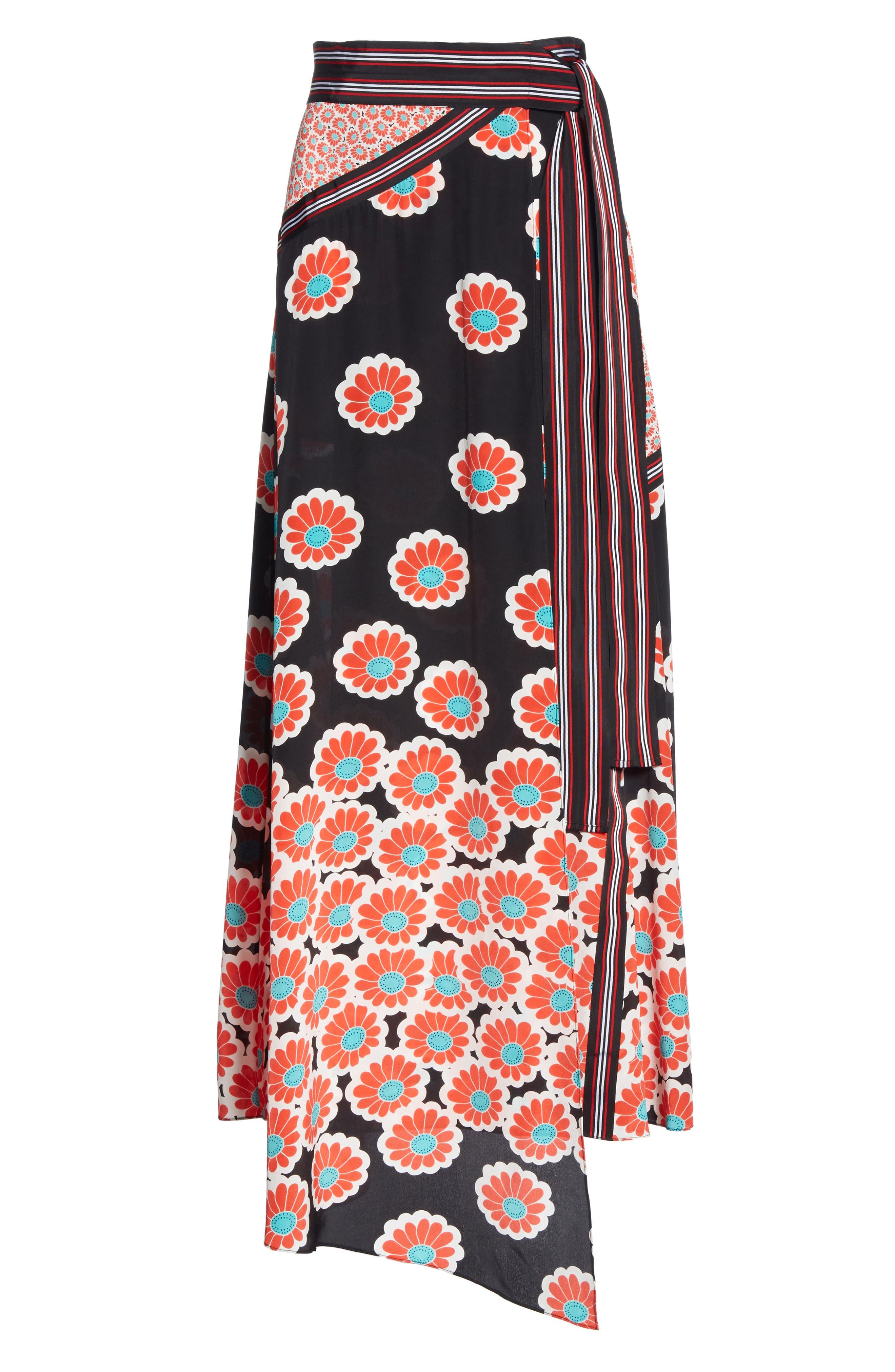 Taylor Wrap Maxi Skirt,                             Alternate thumbnail 6, color,                             KIMONO BLOSSOM BLACK MULTI
