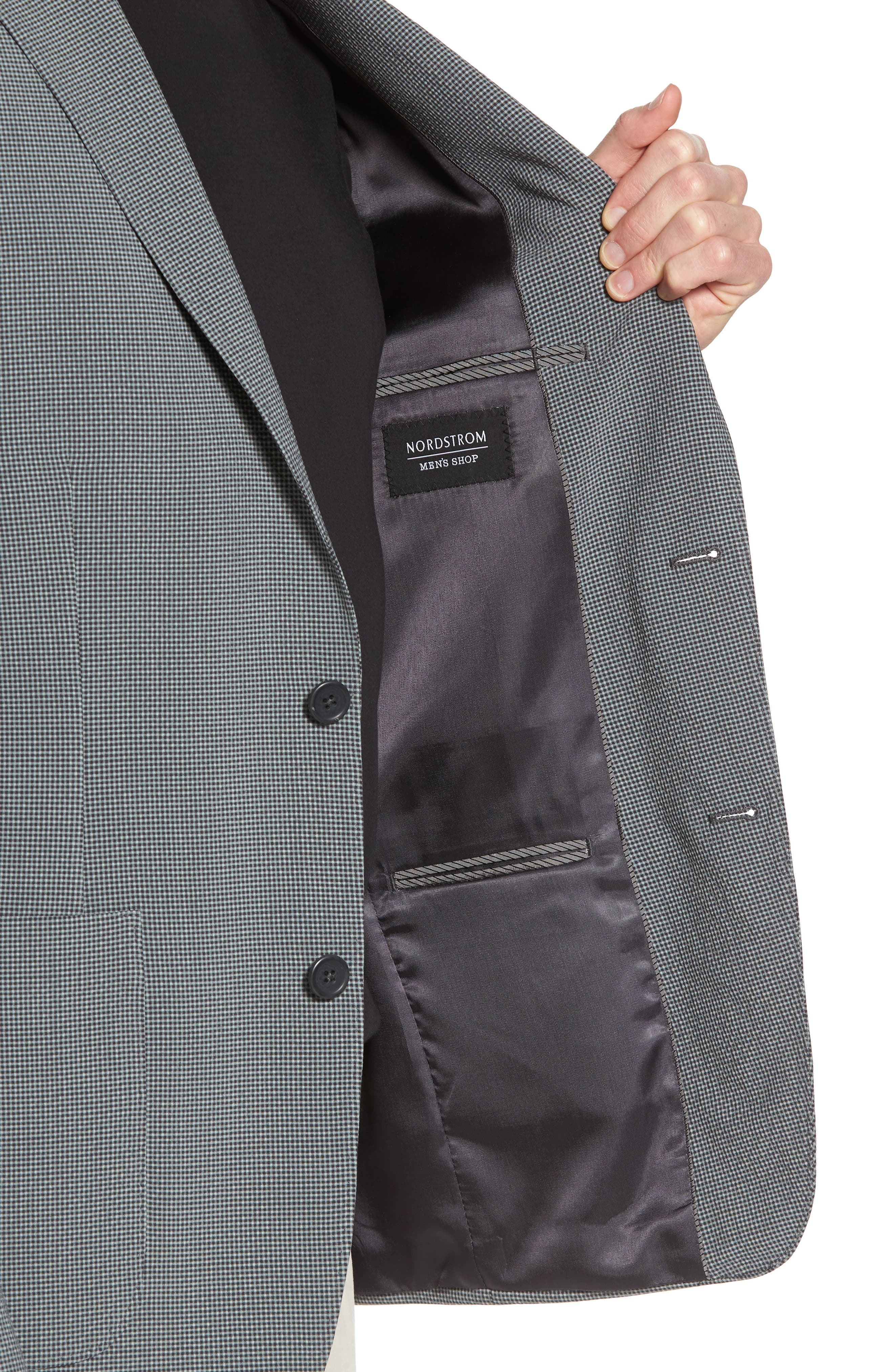 Trim Fit Seersucker Wool Blend Sport Coat,                             Alternate thumbnail 7, color,