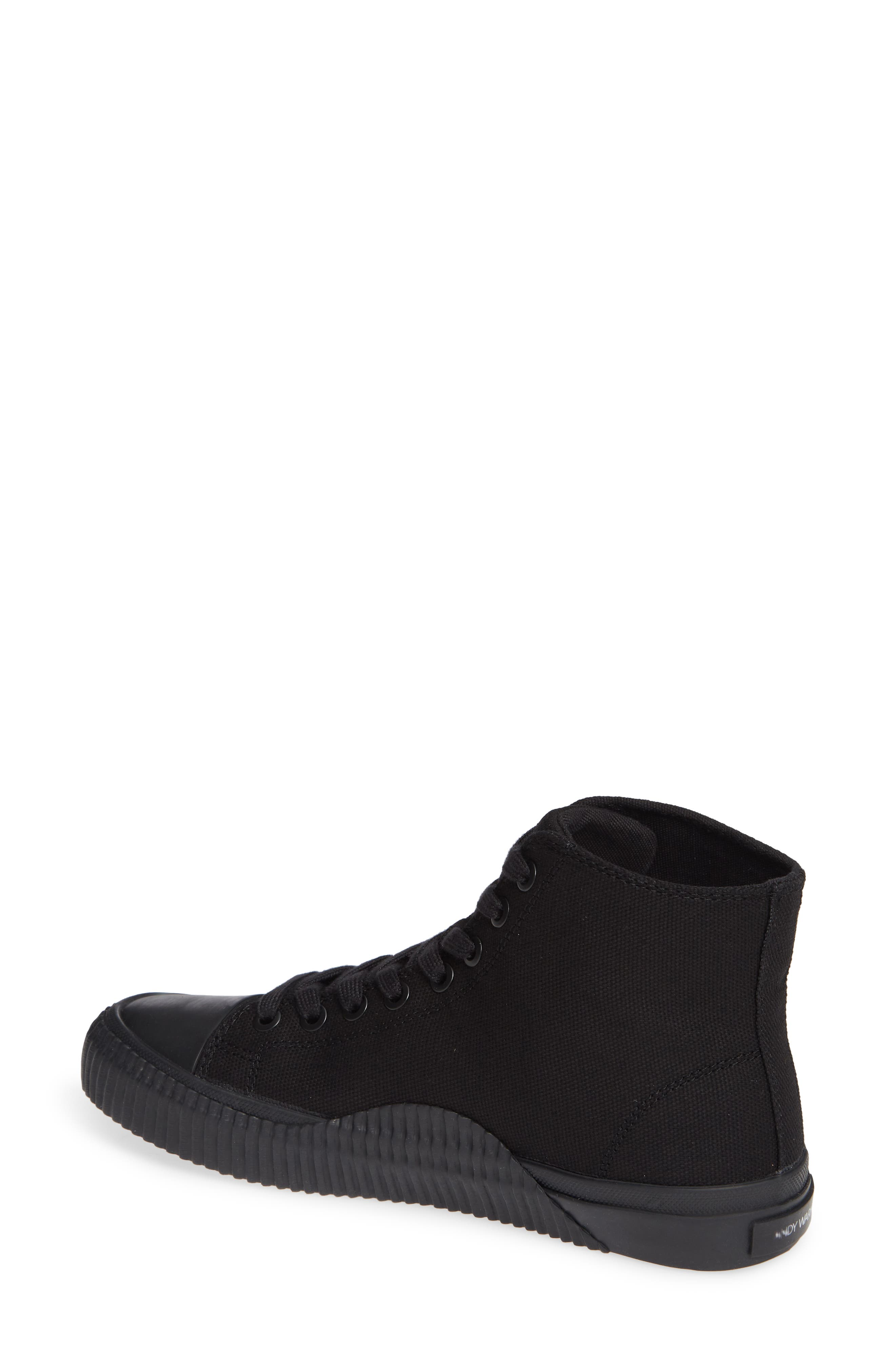 Iconica High Top Sneaker,                             Alternate thumbnail 2, color,                             BLACK/ PURPLE