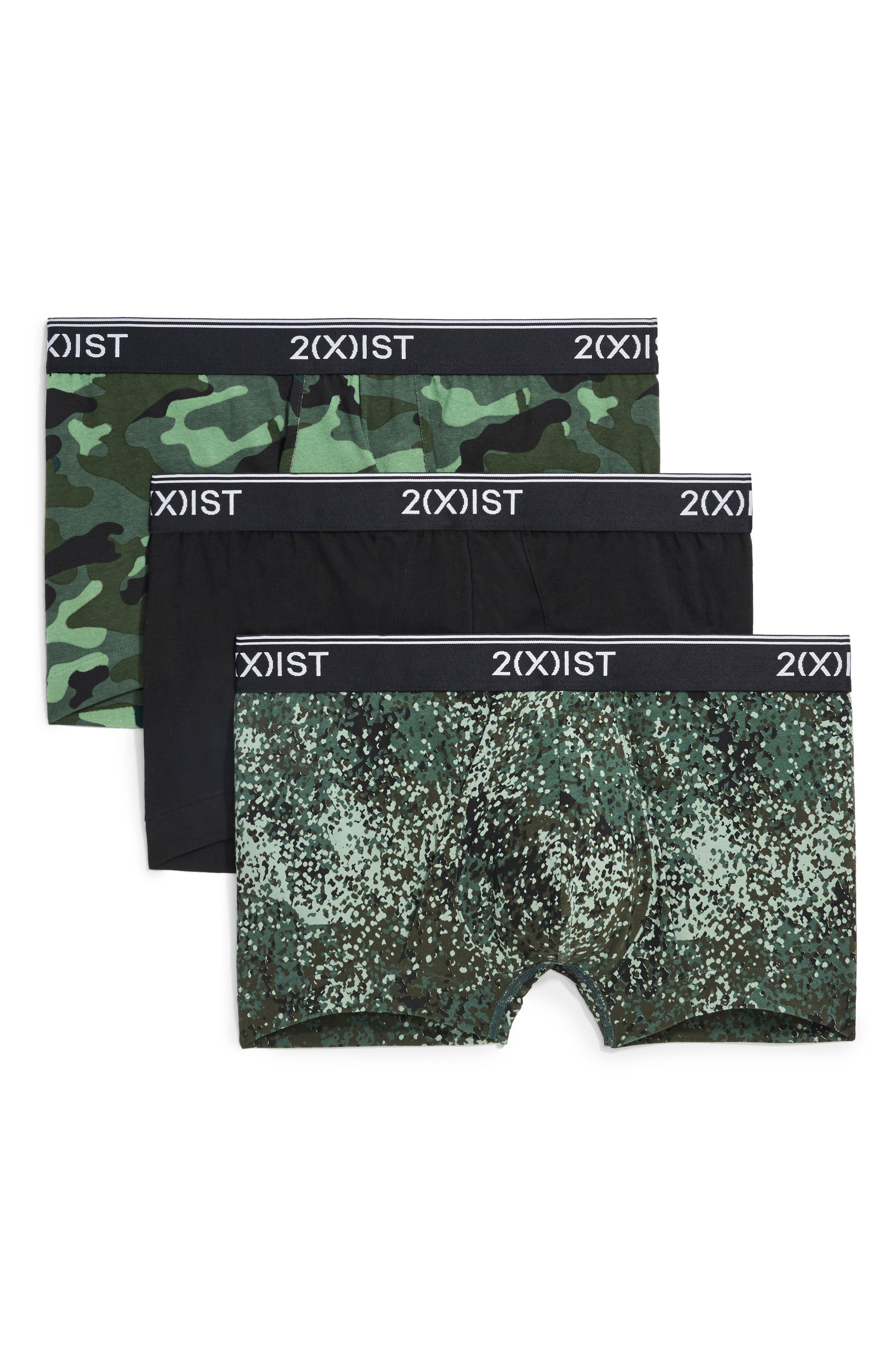 3-Pack No-Show Trunks,                         Main,                         color, CAMO/ BLACK