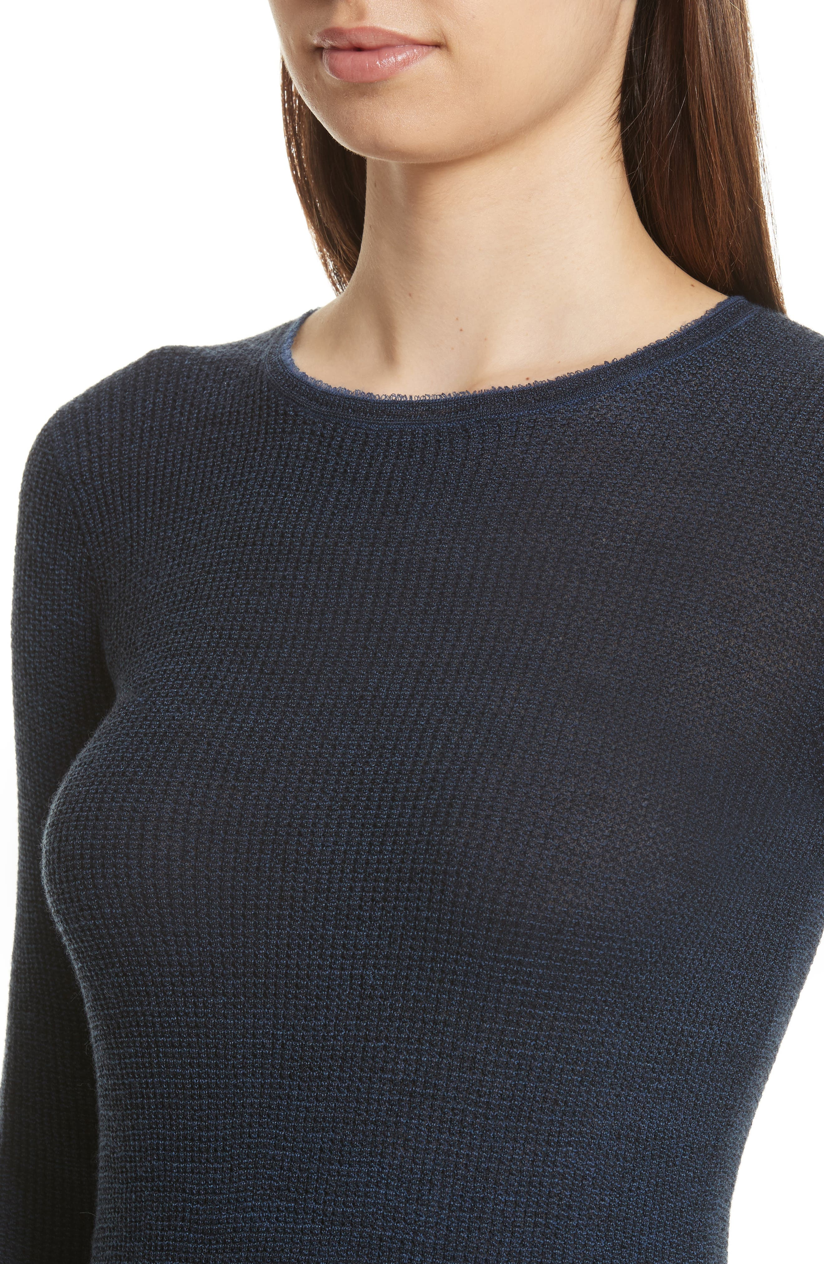 Waffle Knit Wool & Cashmere Top,                             Alternate thumbnail 7, color,