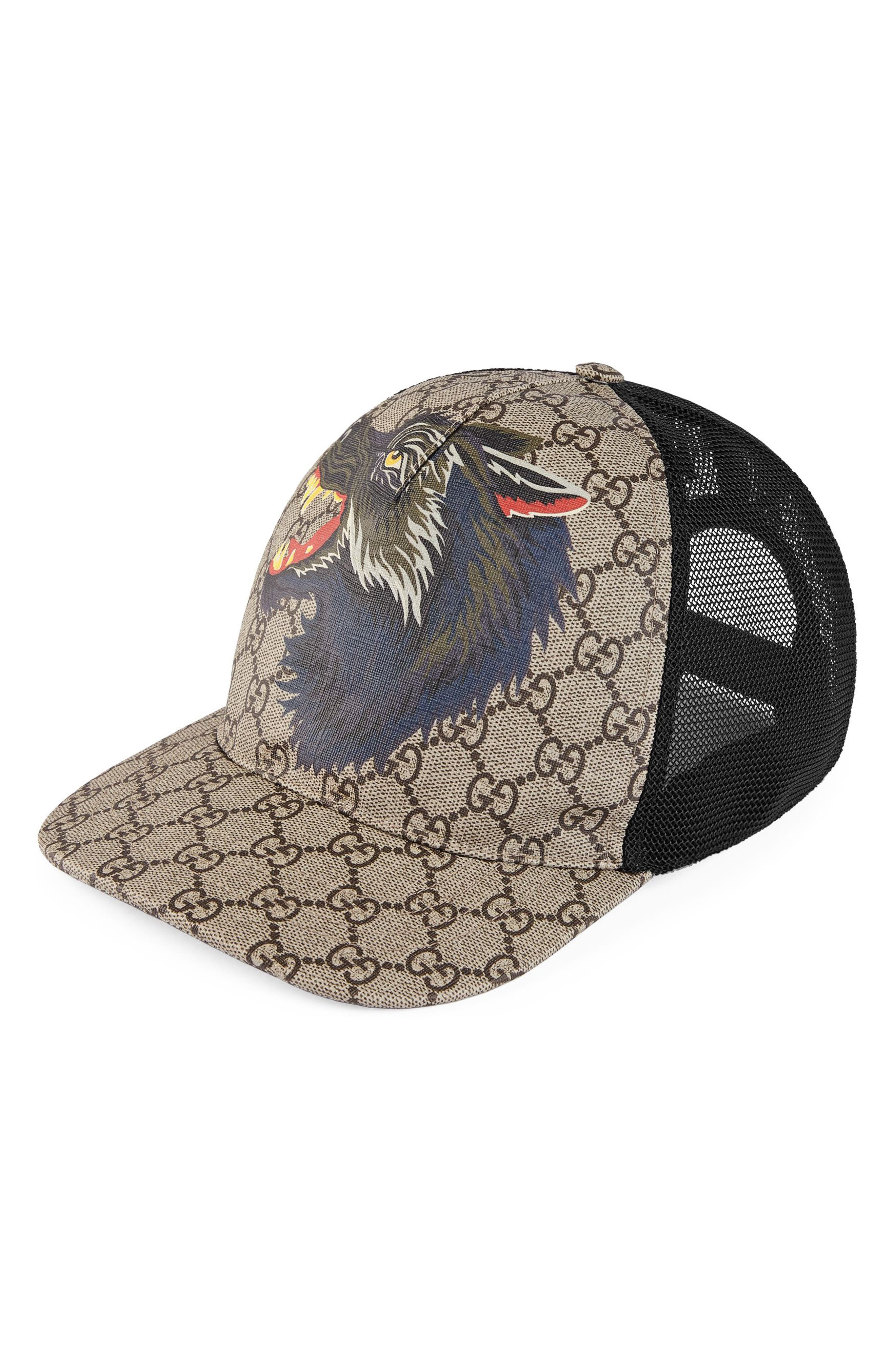Supreme Wolf Trucker Hat,                         Main,                         color, 207